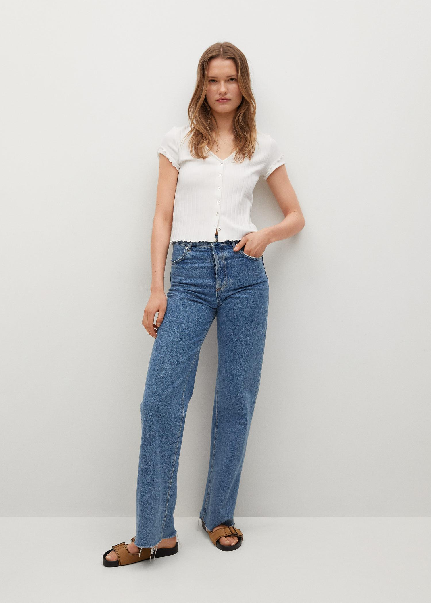 Buttoned ribbed t-shirt 1