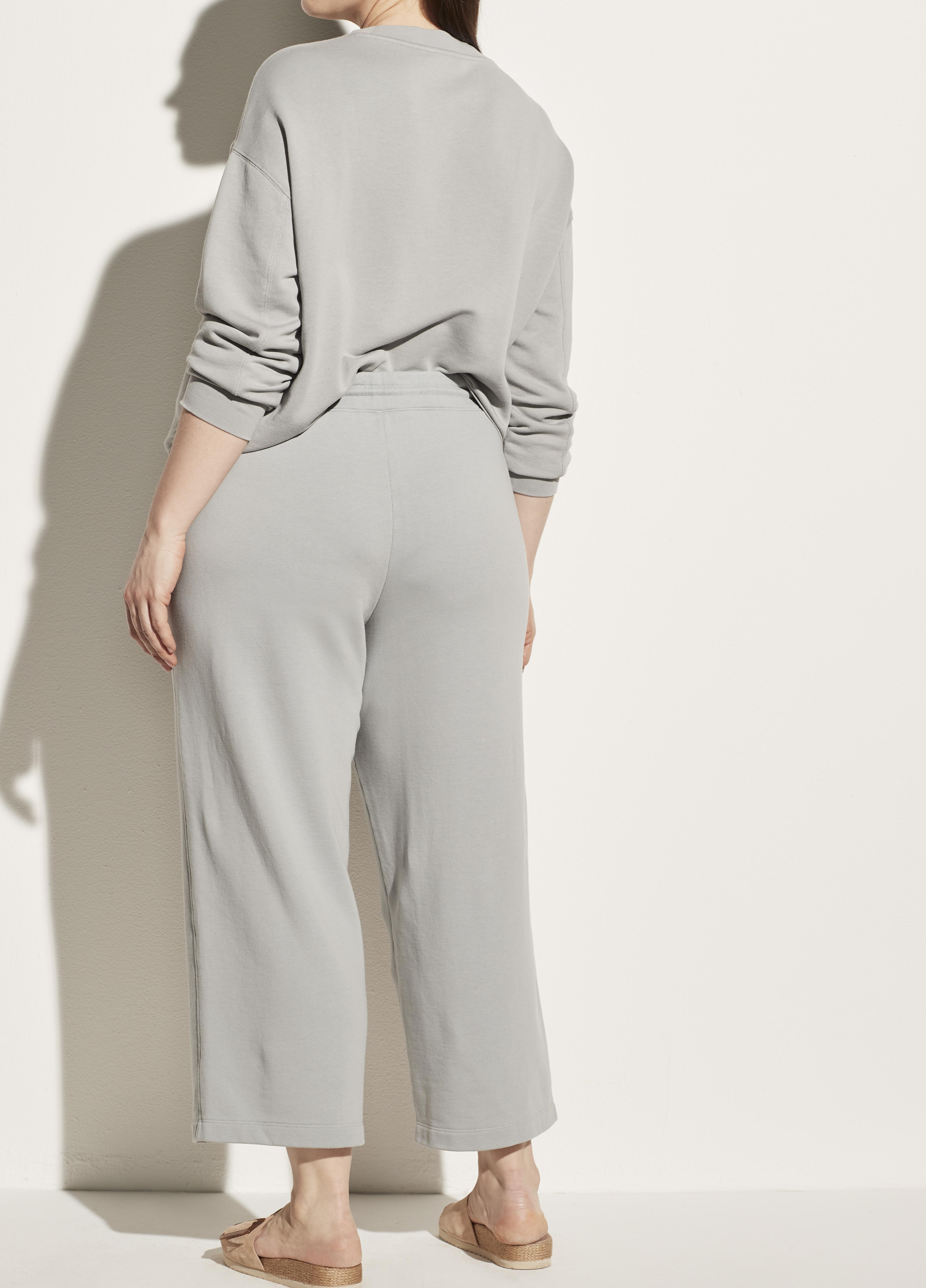 Garment Washed French Terry Cropped Pant 2