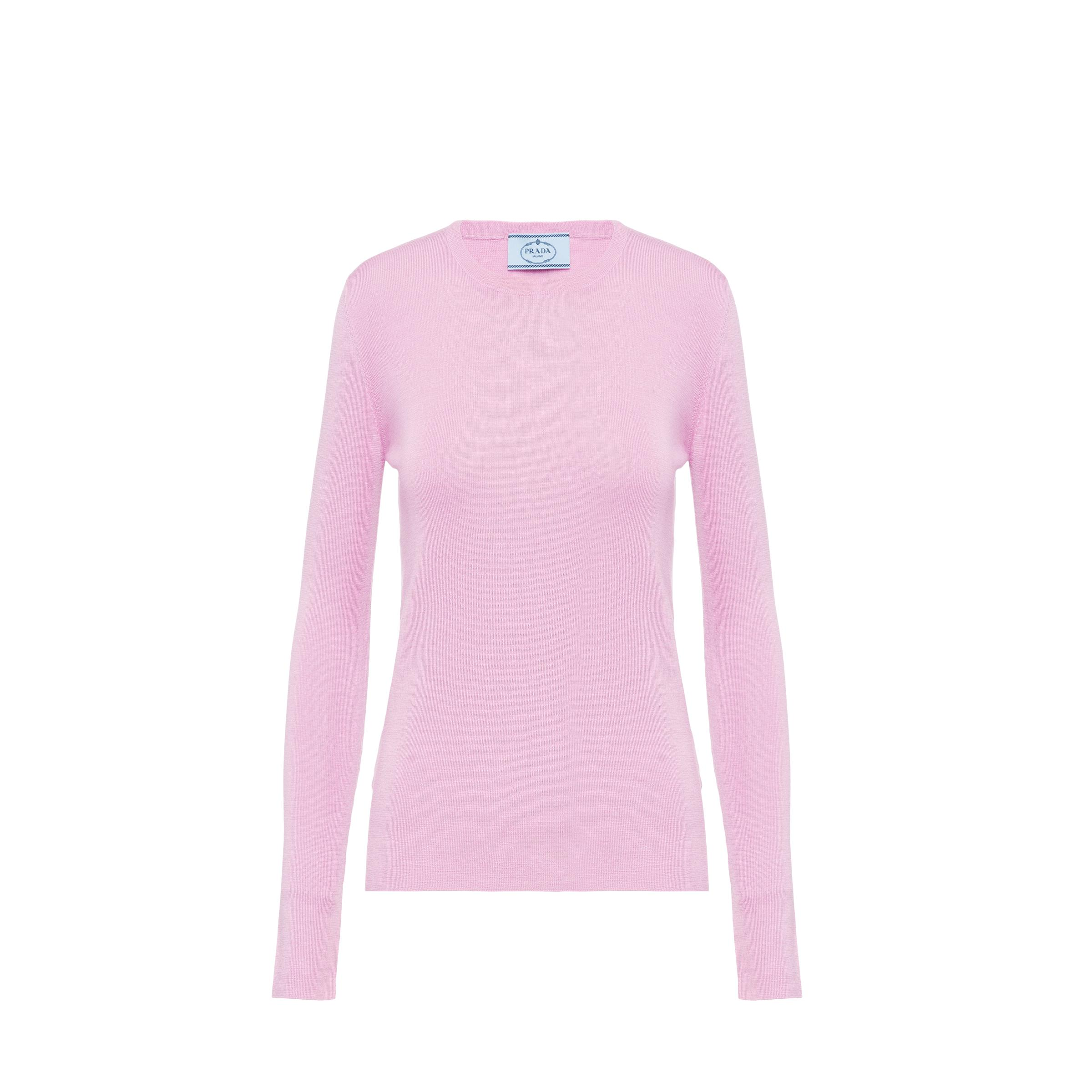 Cashmere And Silk Sweater Women Pink