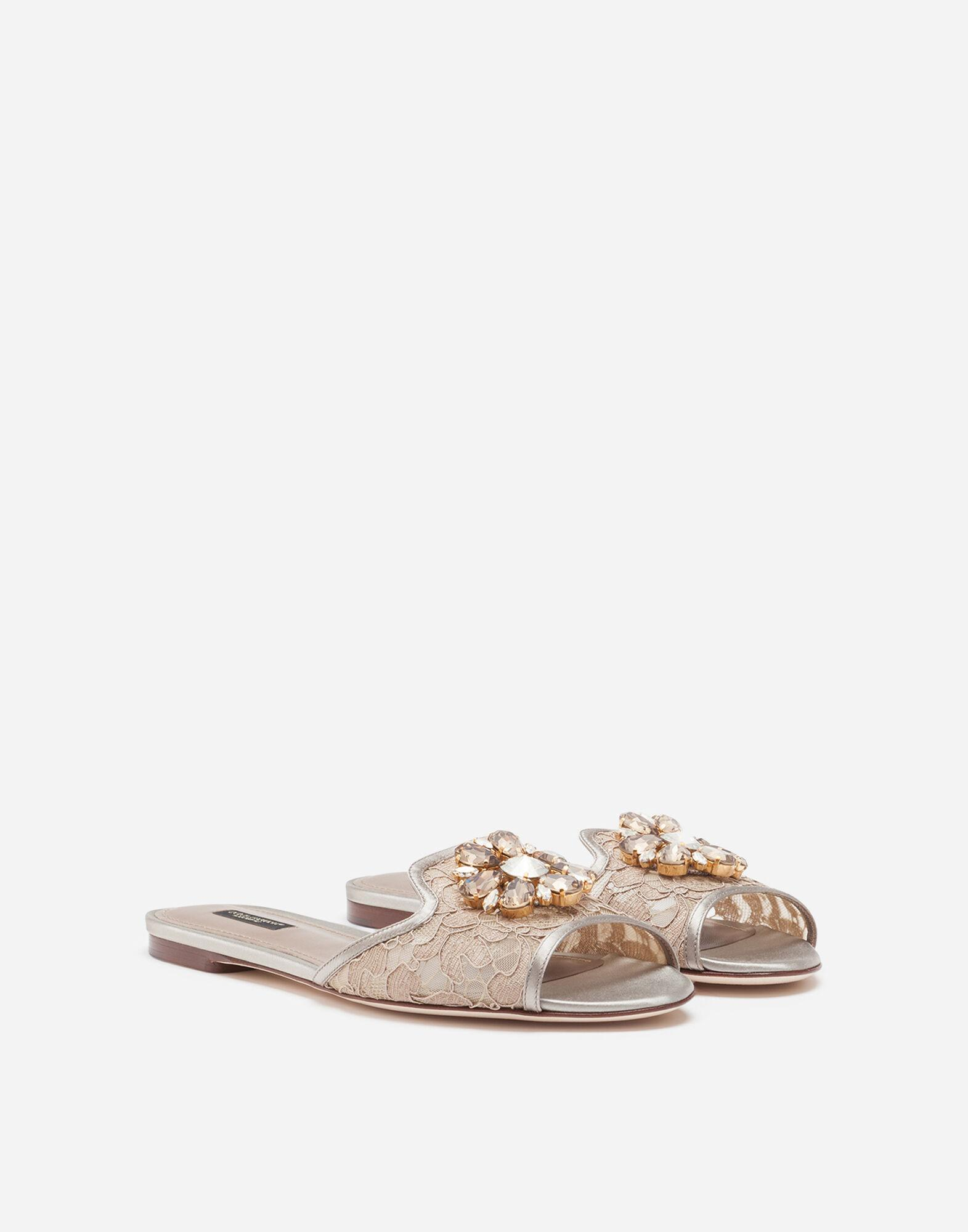 Lace slippers with crystals 1