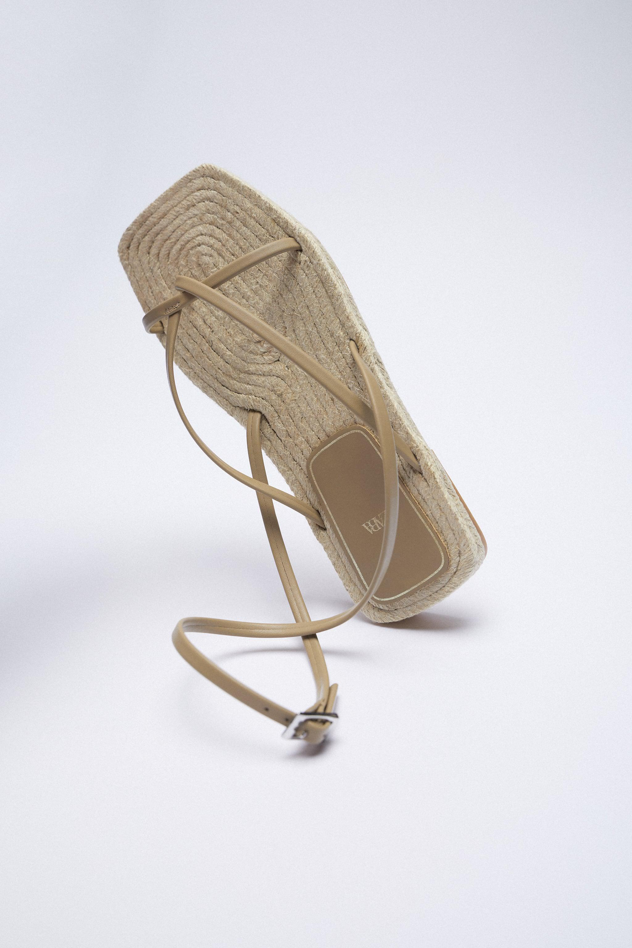 CHUNKY STRAPPY JUTE SANDALS 4