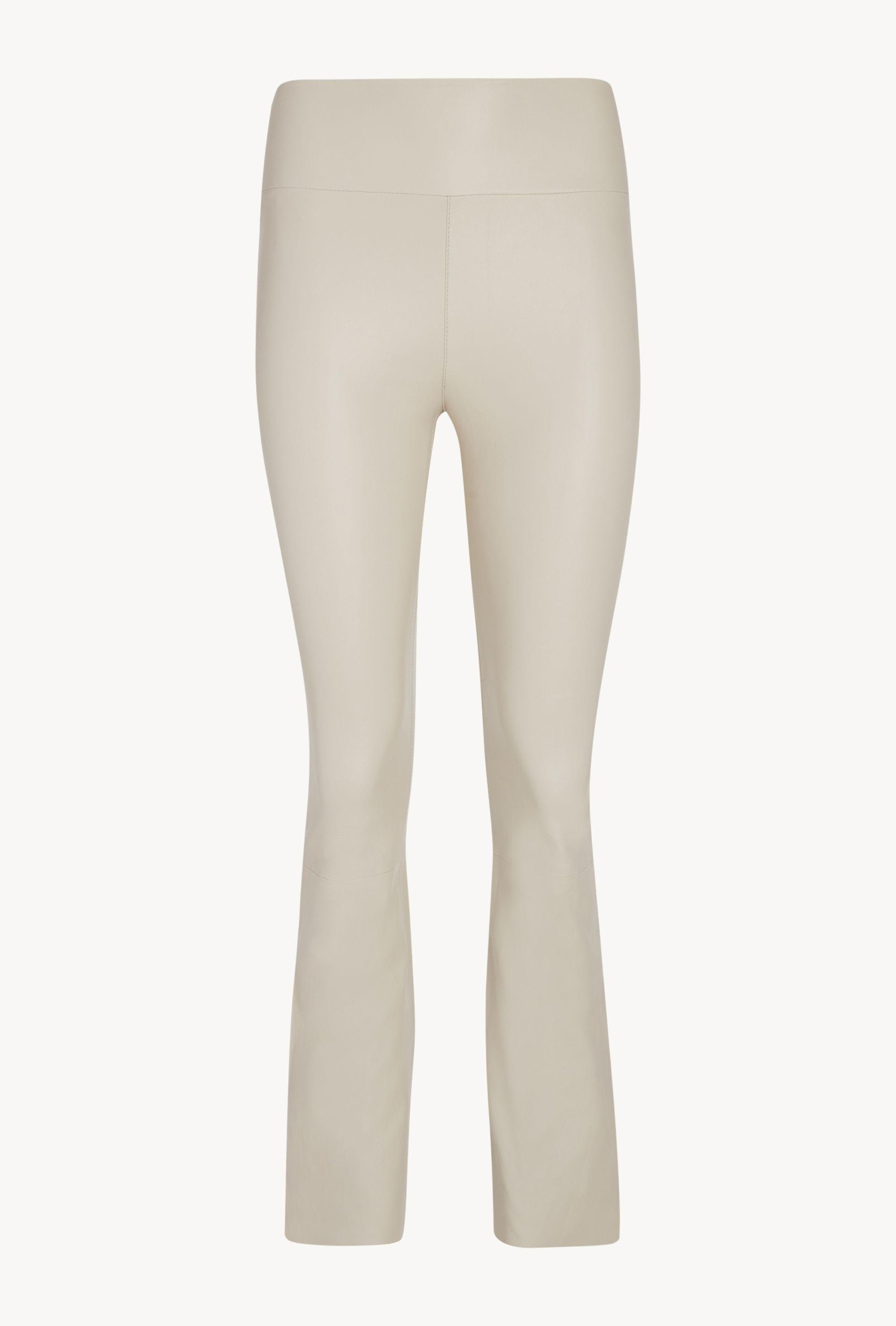 Off White Leather Ankle Flare Legging 3