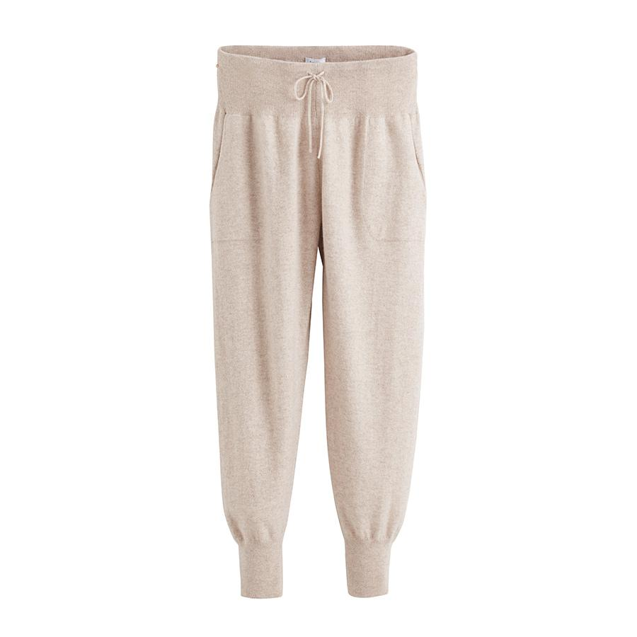 Women's Tapered Pant in Beige | Size: Large | Cashmere by Cuyana