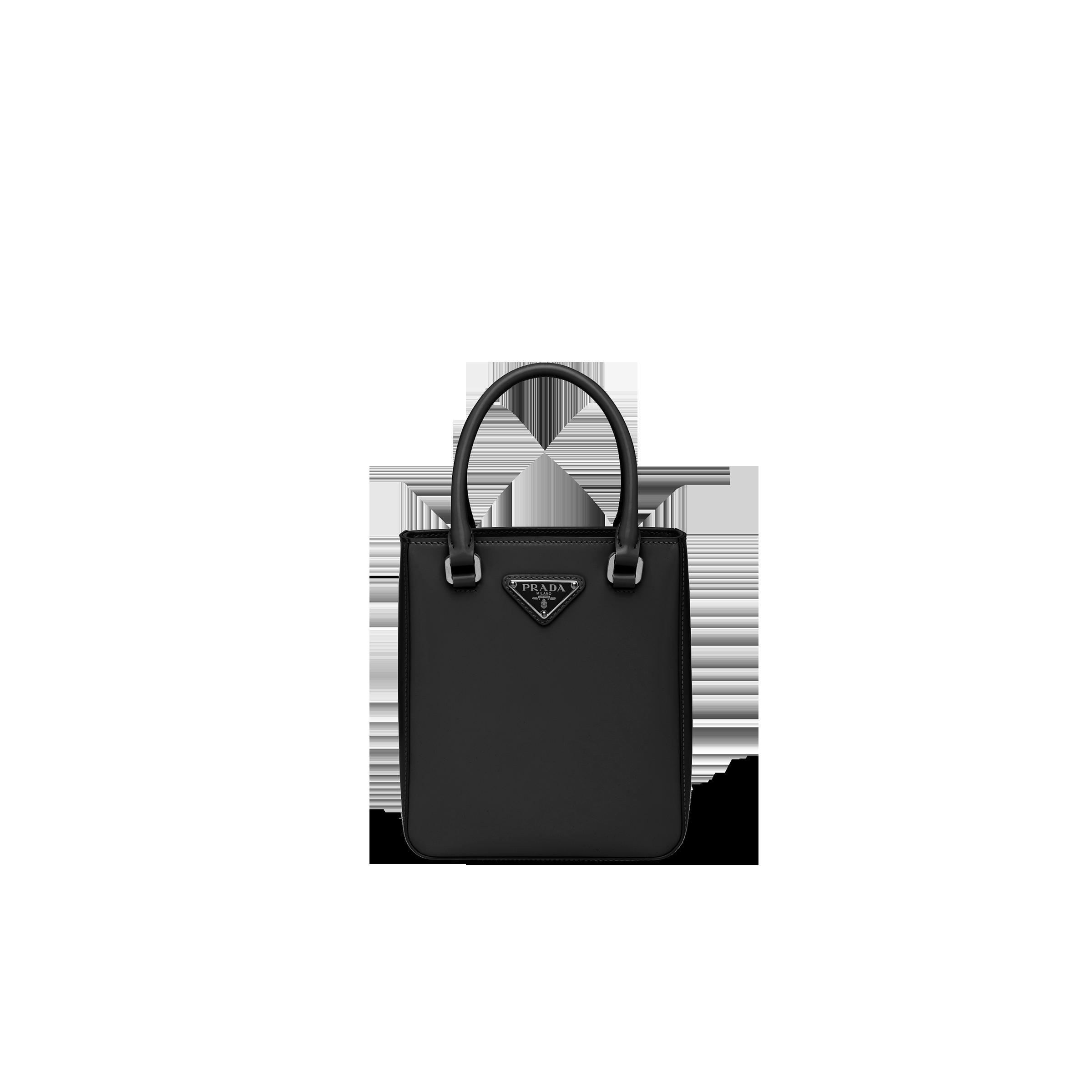 Small Brushed Leather Tote Women Black