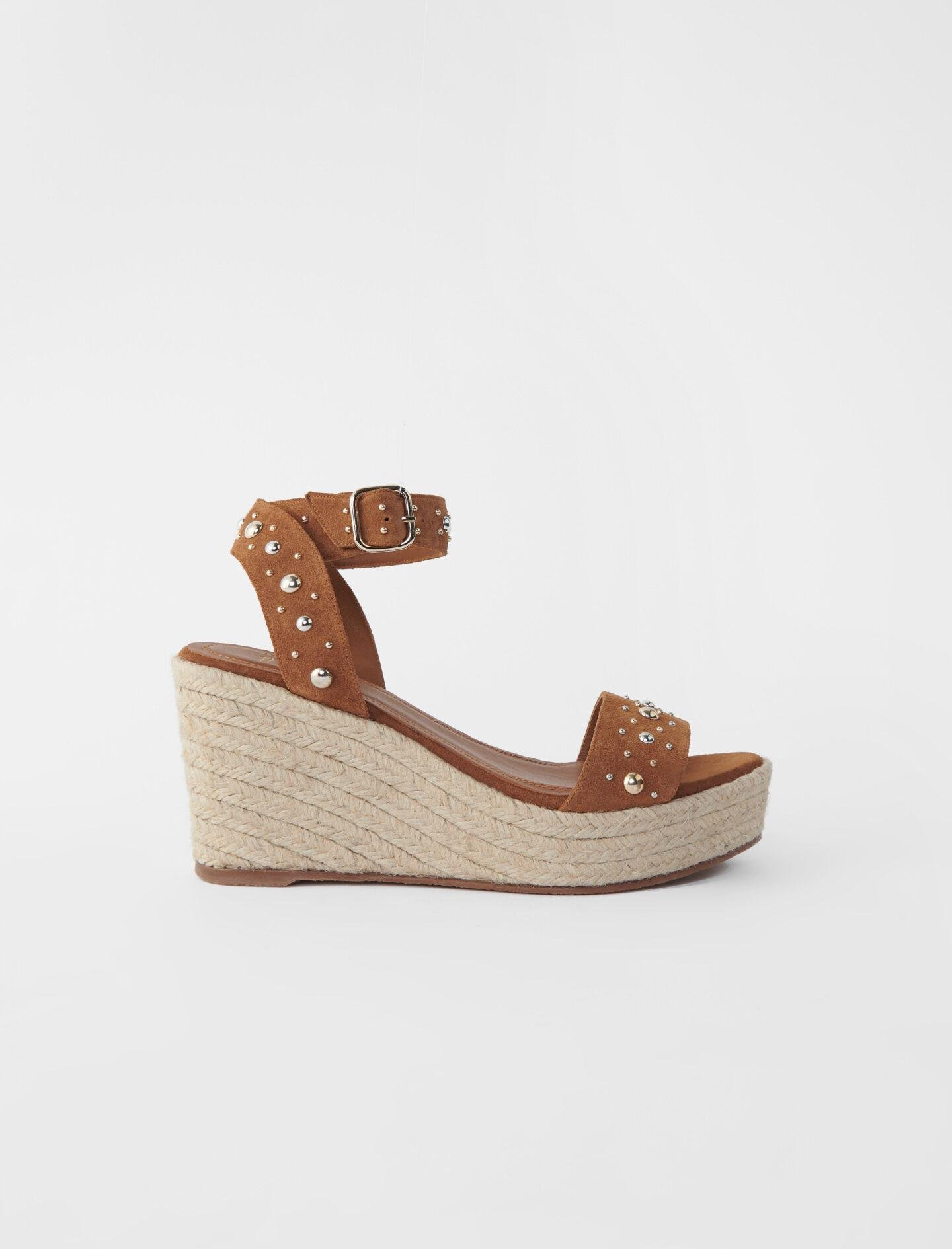WEDGE SANDALS WITH SUEDE STRAPS
