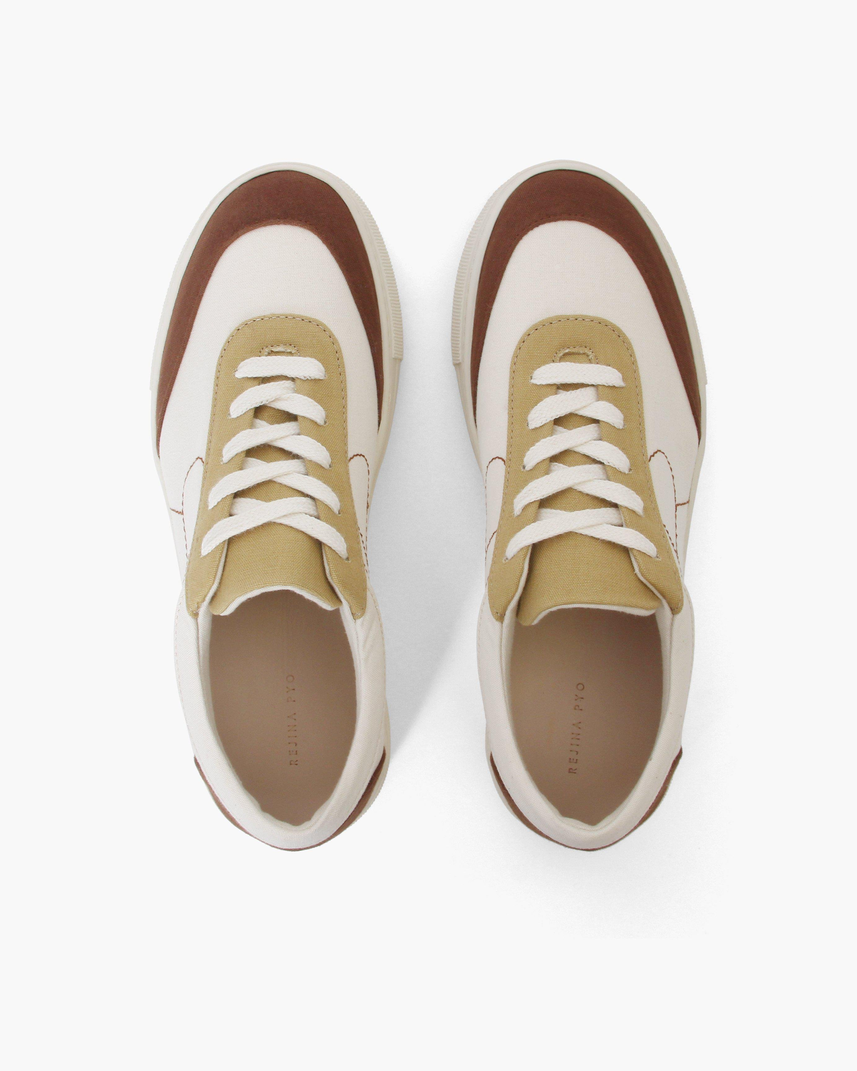 Bailey Sneakers Cotton Canvas Coffee - SALE 3