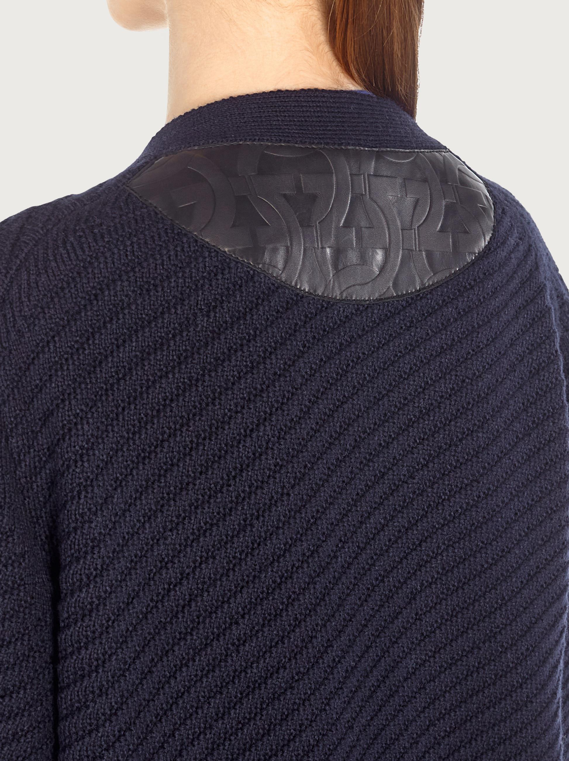 CARDIGAN WITH LEATHER POCKETS 4
