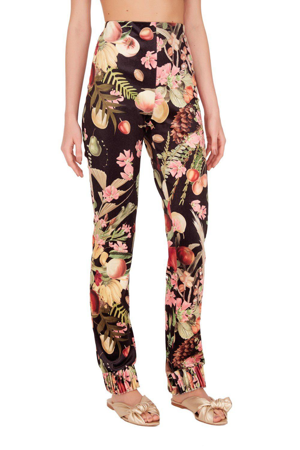 Fruits Exotiques High-waisted Pants with Frills