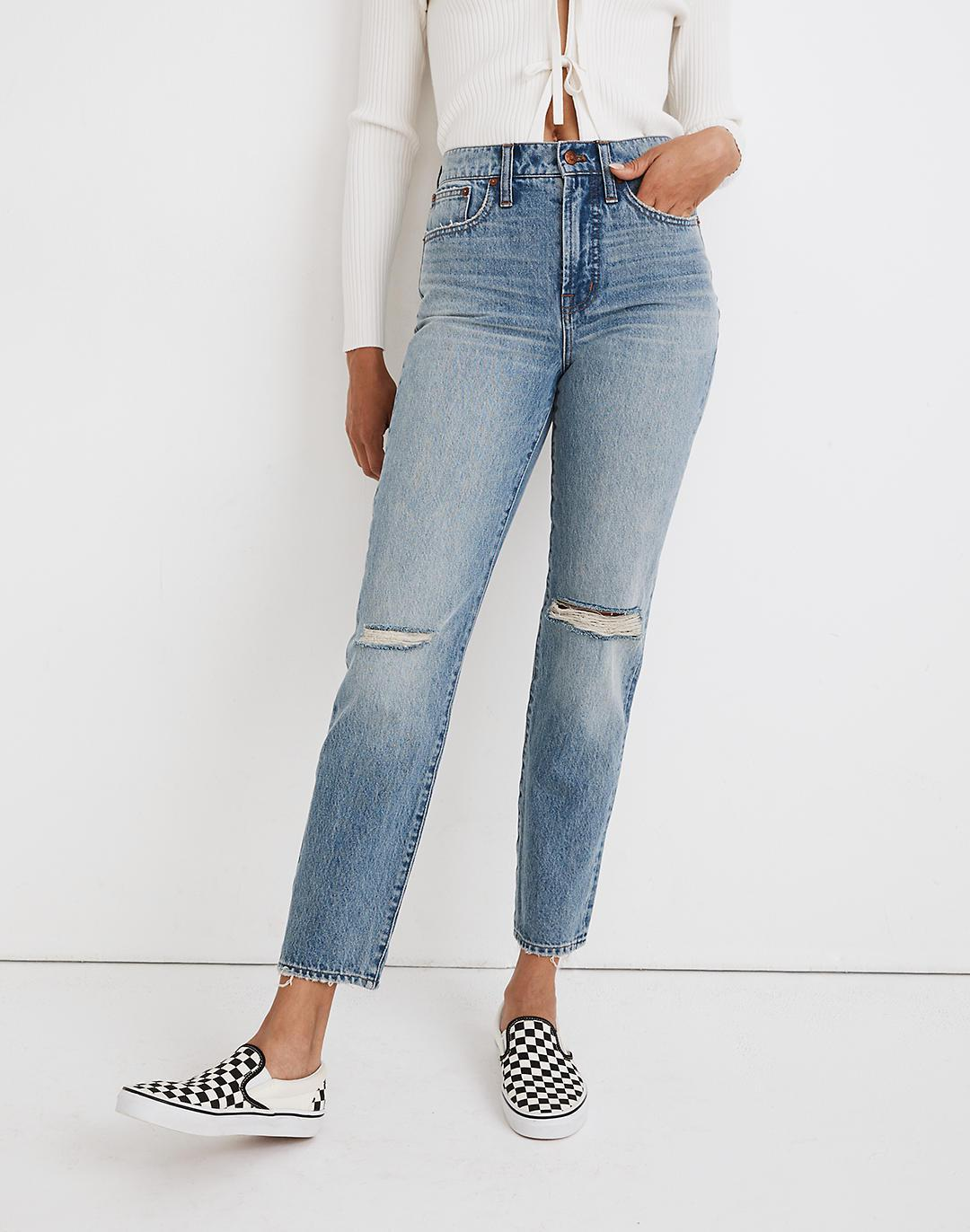The Perfect Vintage Jean in Phillips Wash: Knee-Rips Edition 3