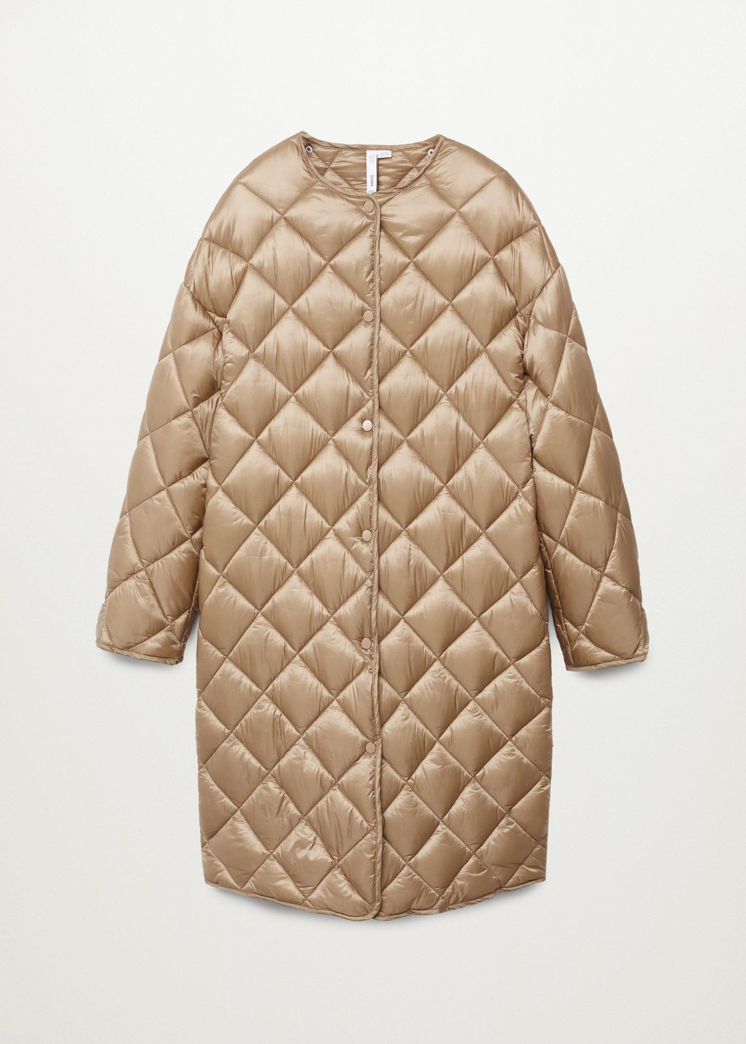 Oversize quilted coat 9