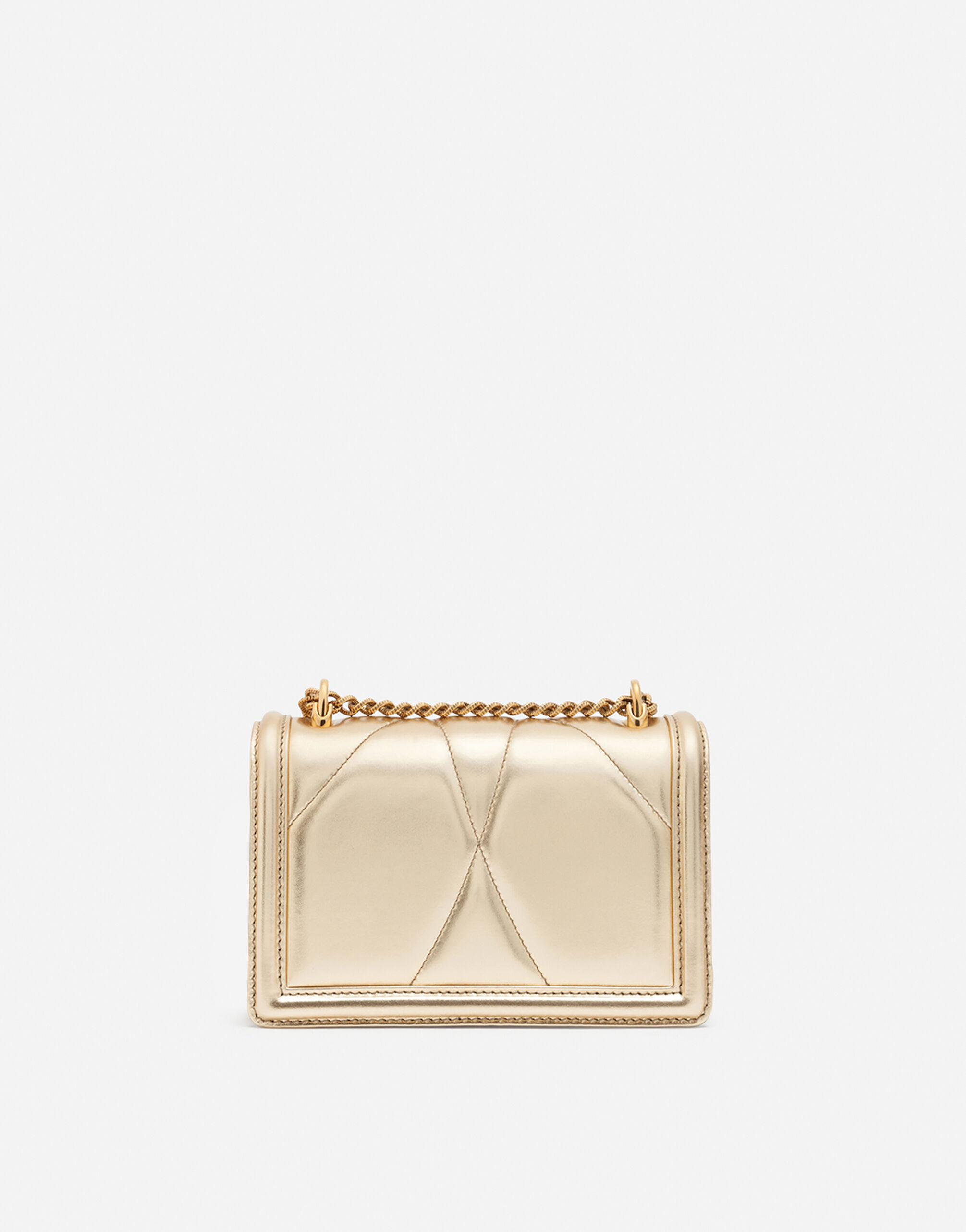 Small Devotion crossbody bag in quilted nappa mordore leather 2