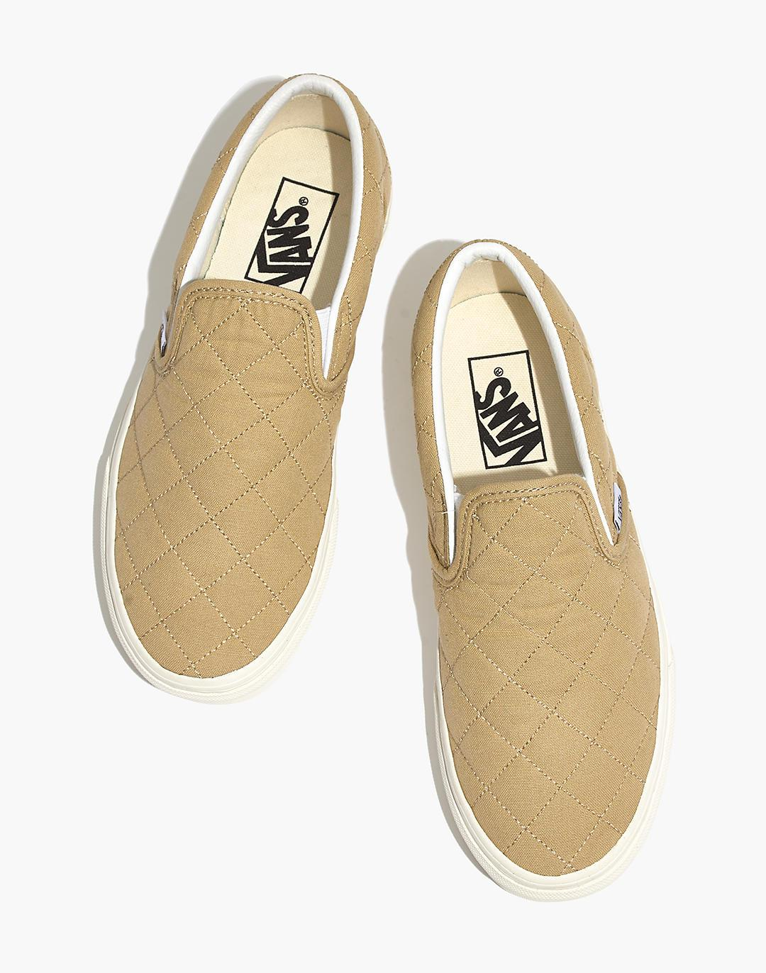 Madewell x Vans® Unisex Classic Slip-On Sneakers in Quilted Fabric