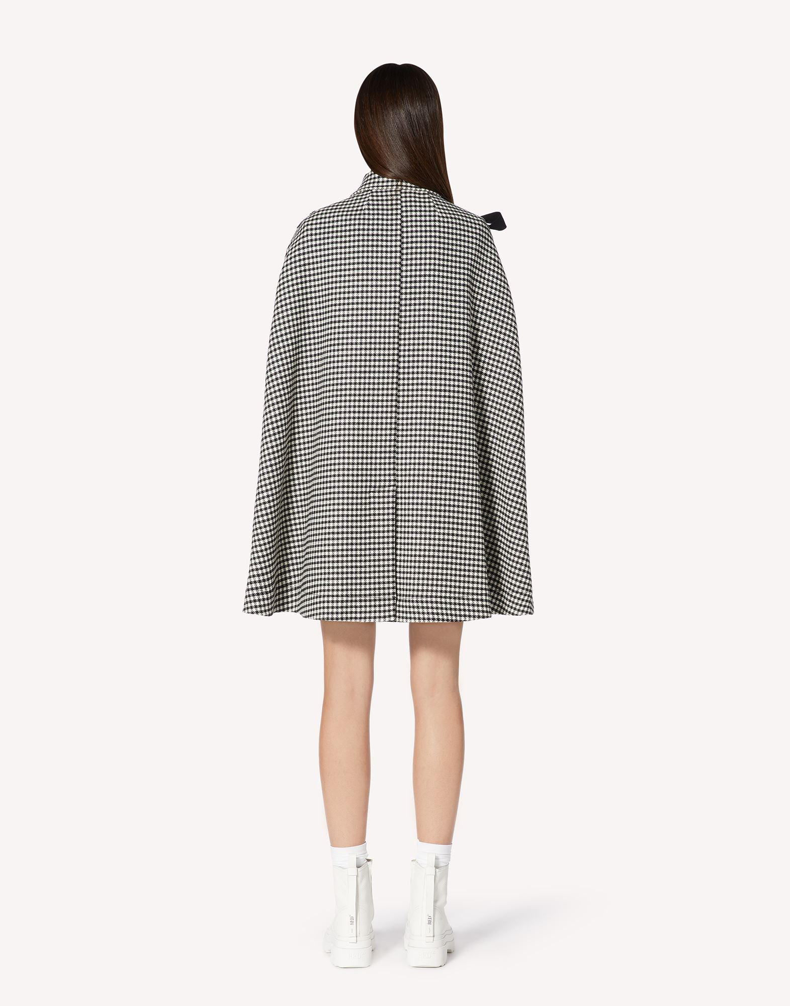 VICHY MOTIF CAPE WITH BOW DETAIL 1