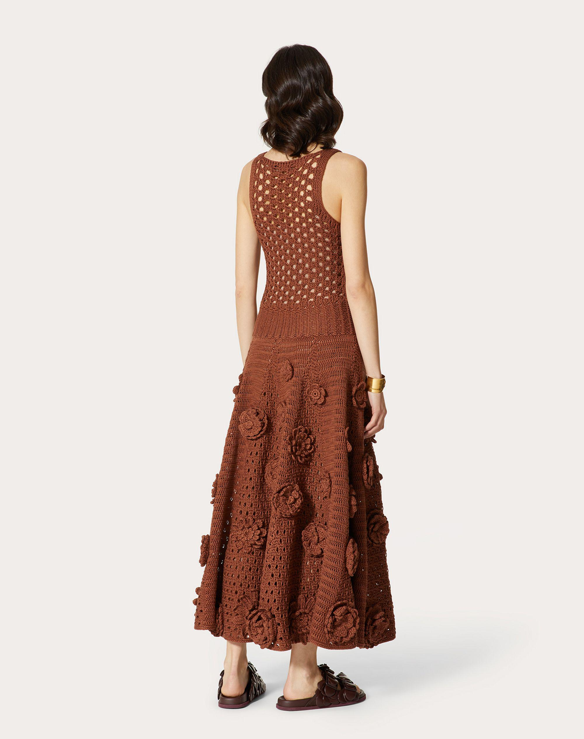 EMBROIDERED COTTON KNITTED DRESS 2