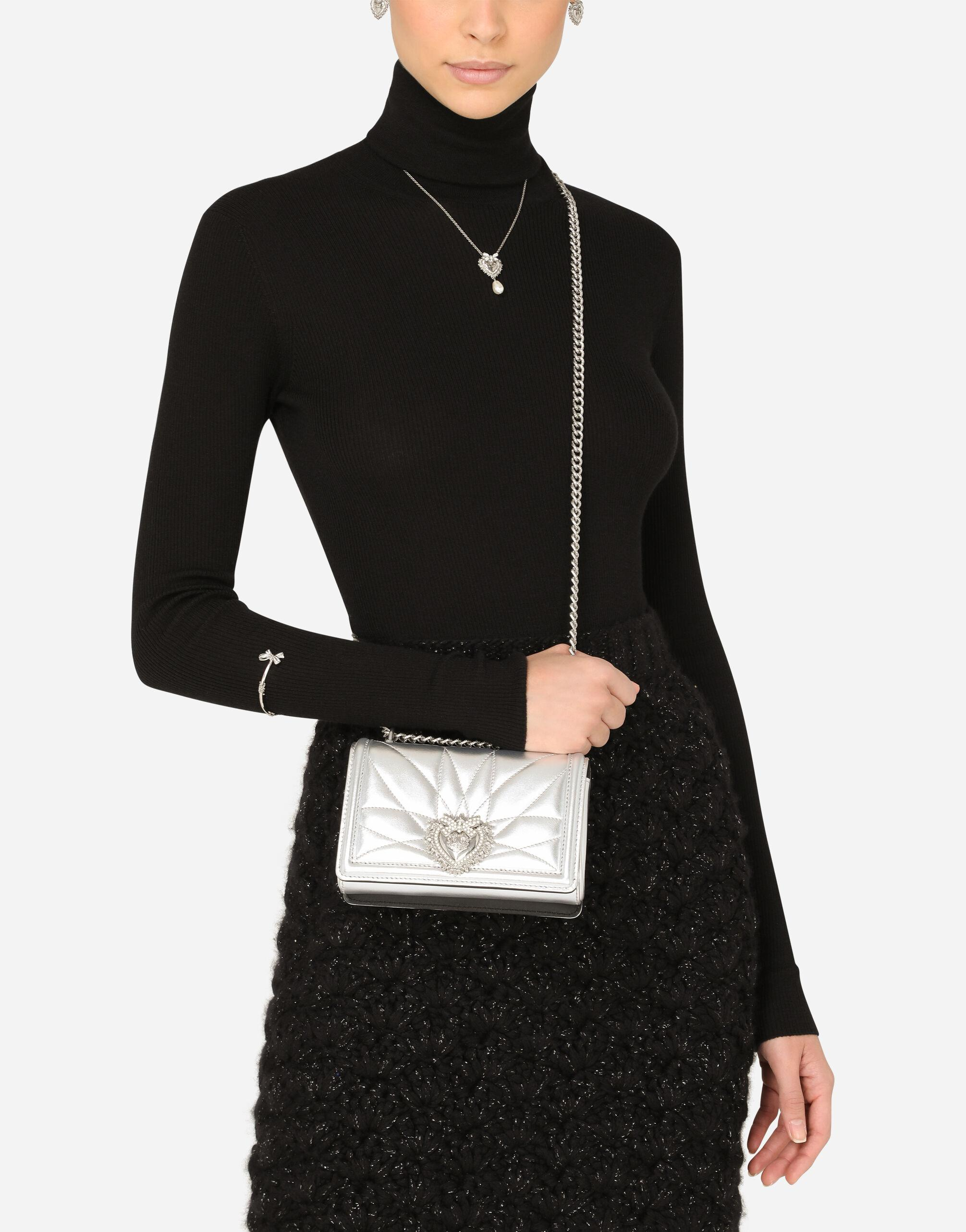 Small Devotion crossbody bag in quilted nappa mordore leather 4