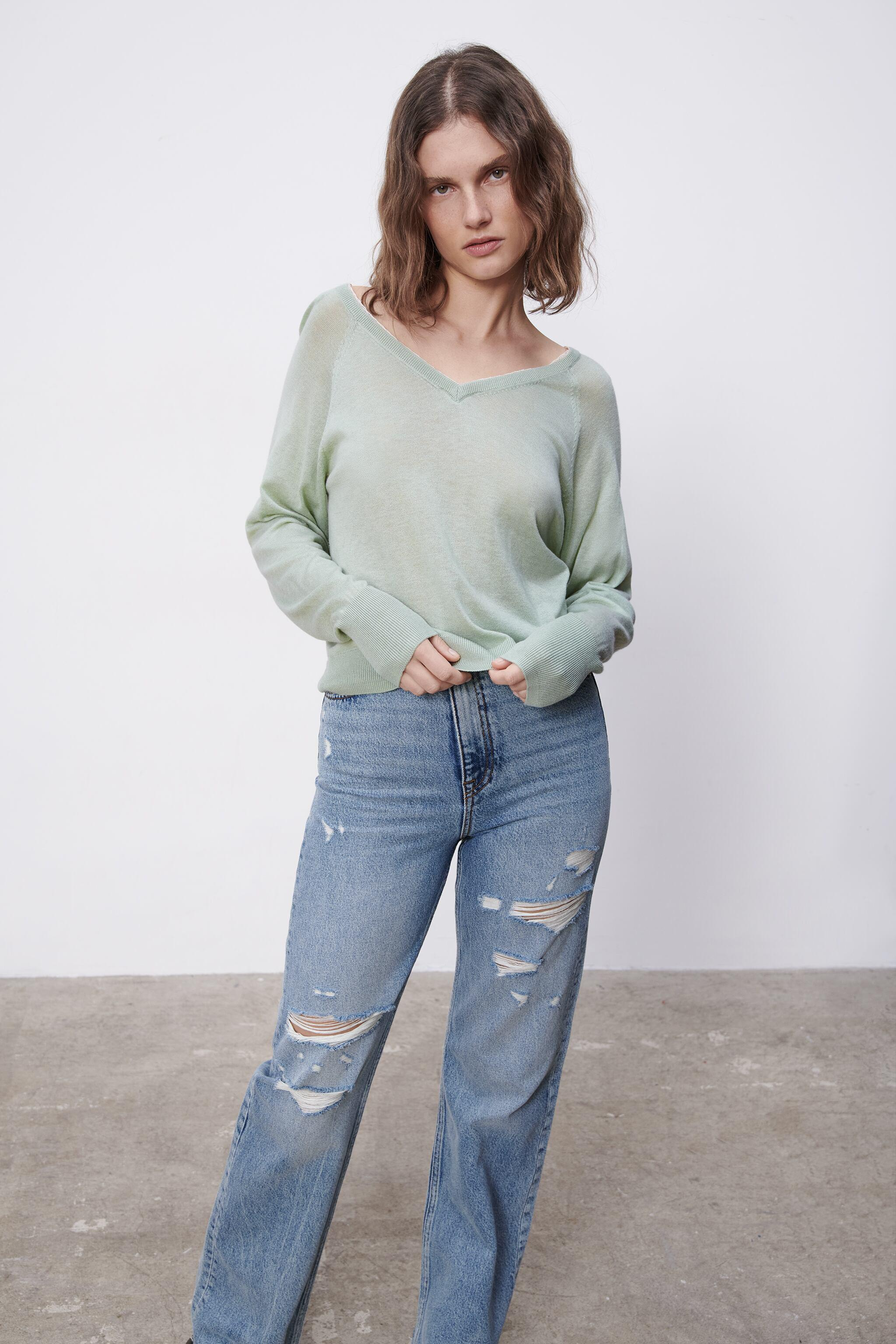 COMBINATION KNIT SWEATER 4