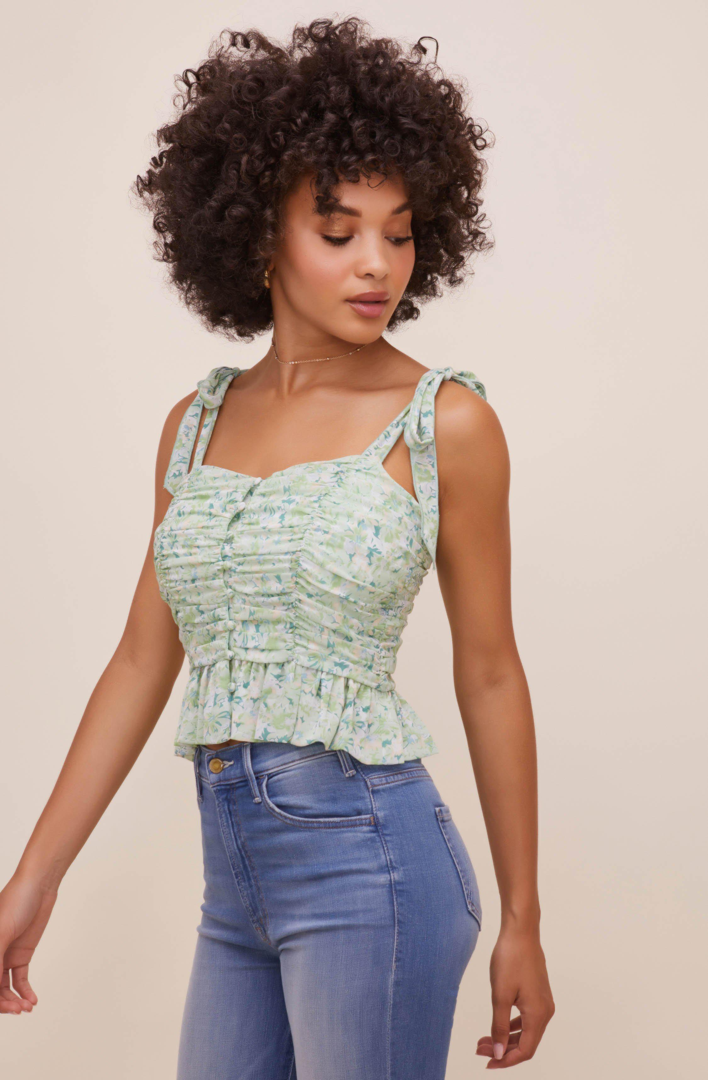 Duffy Ruched Floral Top