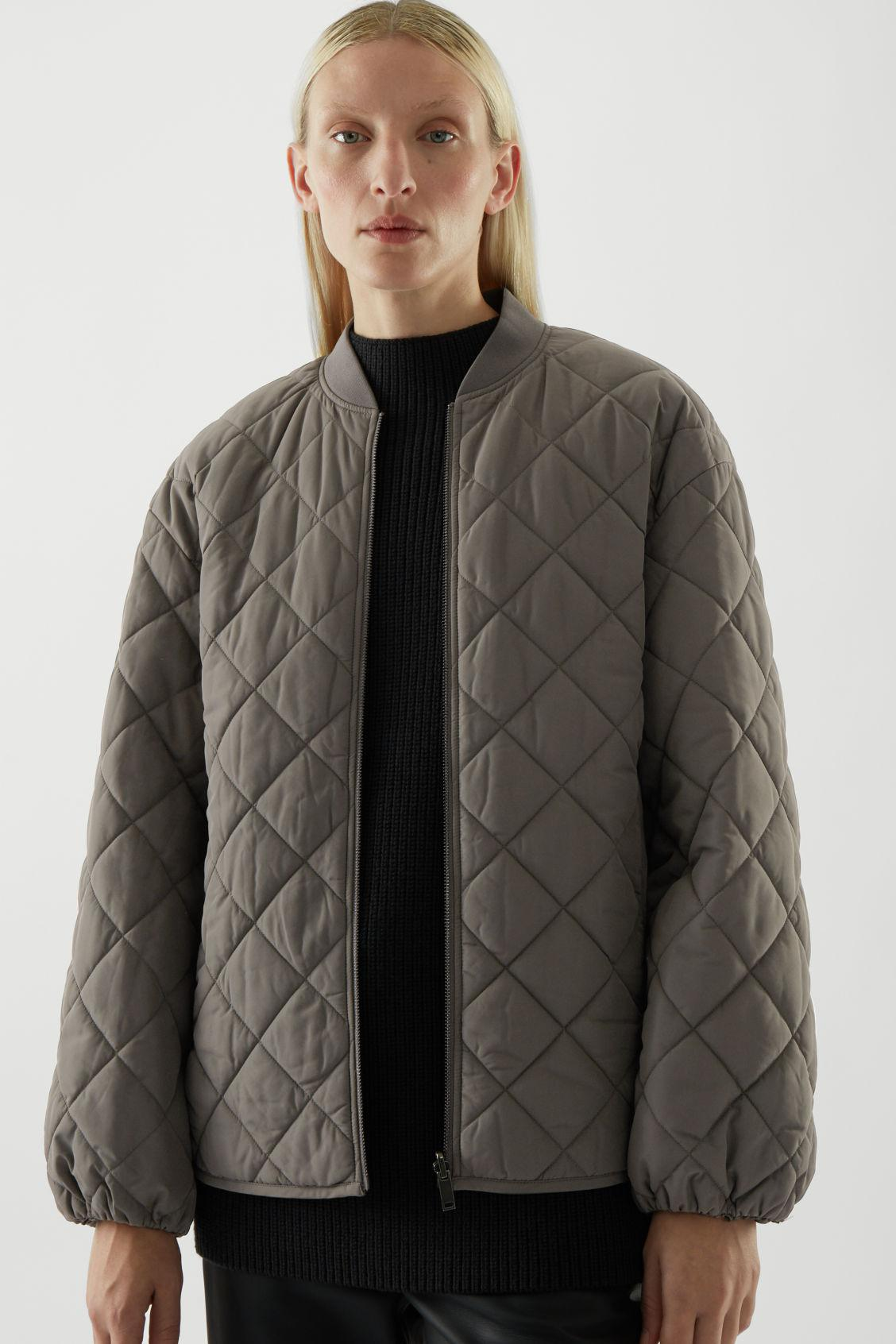 RECYCLED POLYESTER REVERSIBLE QUILTED JACKET