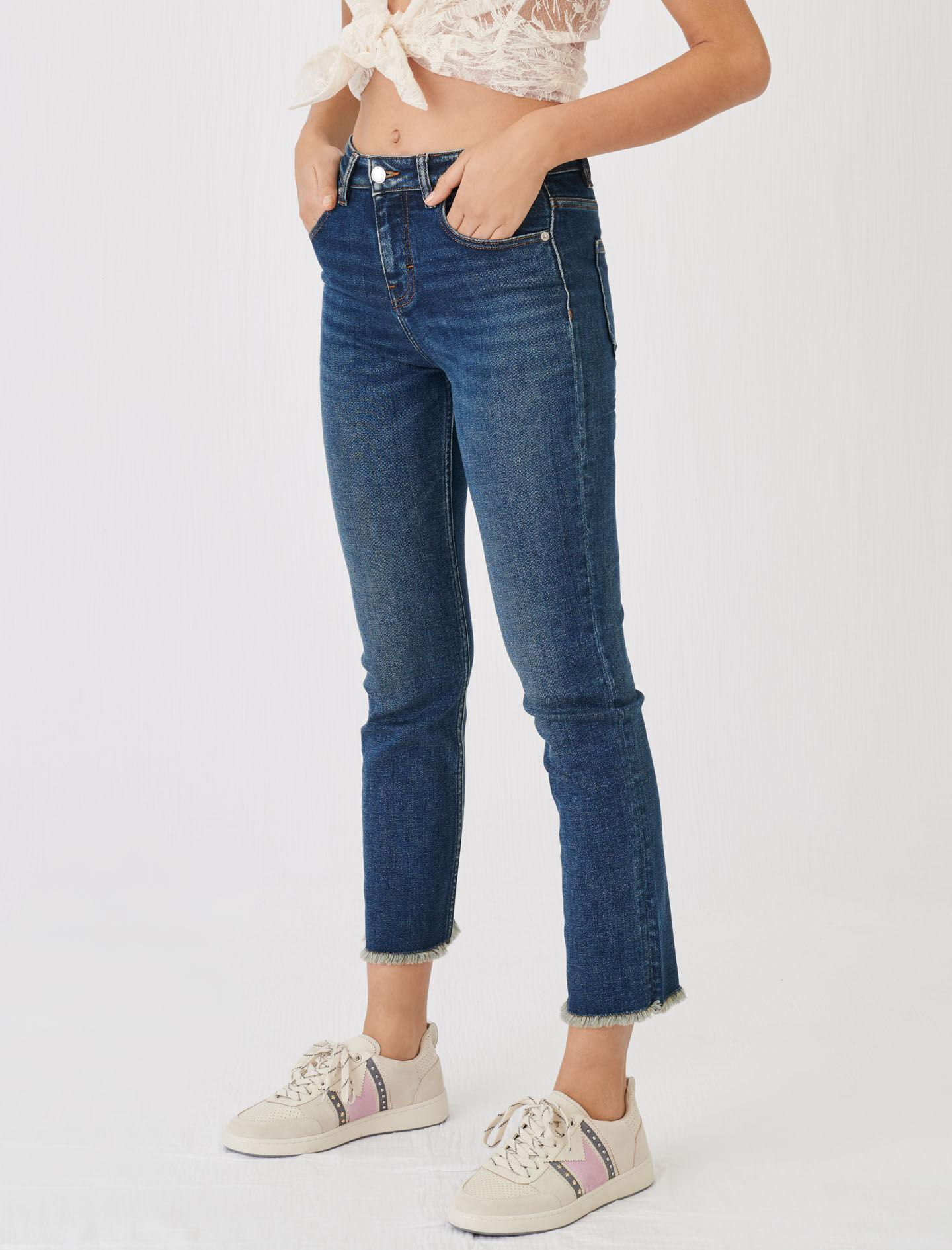 STRAIGHT CUT JEANS WITH FRINGING 4