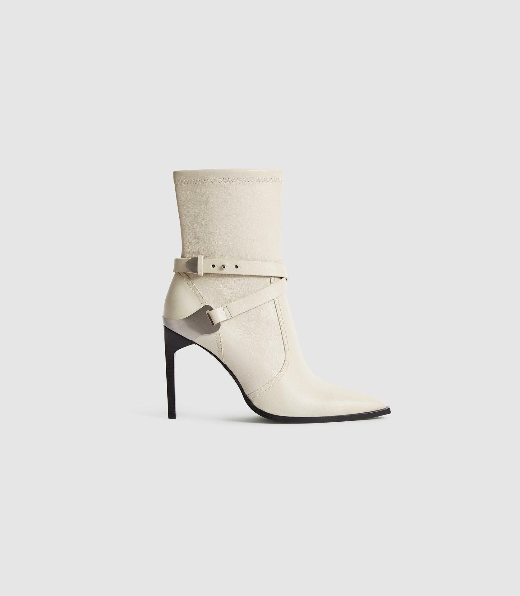 HAYWORTH HIGH - LEATHER POINT-TOE BOOTS