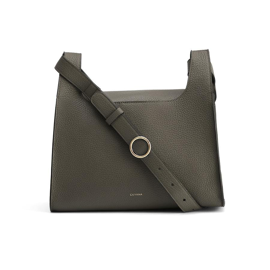 Women's Double Loop Bag in Dark Olive | Pebbled Leather by Cuyana