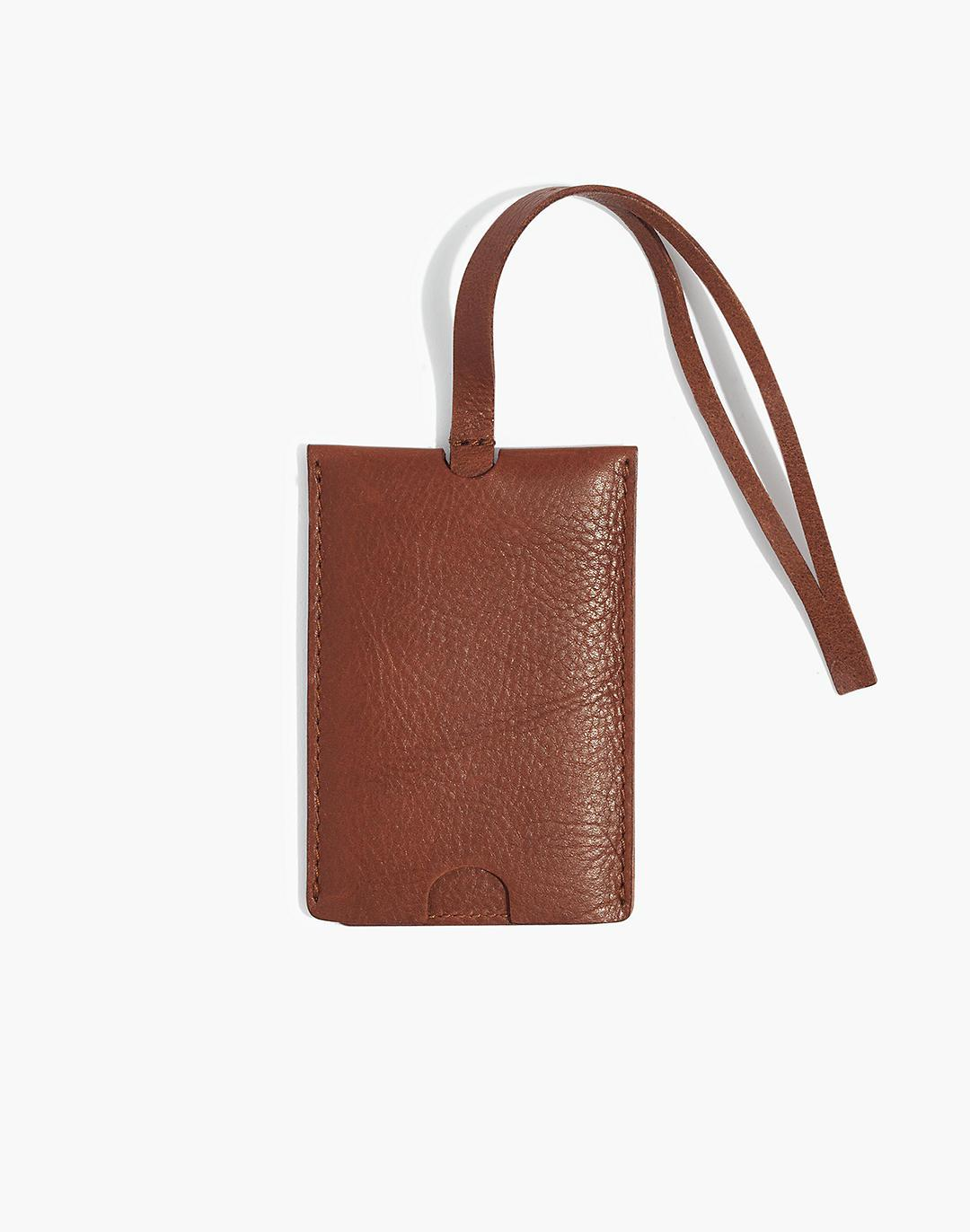 The Leather Luggage Tag