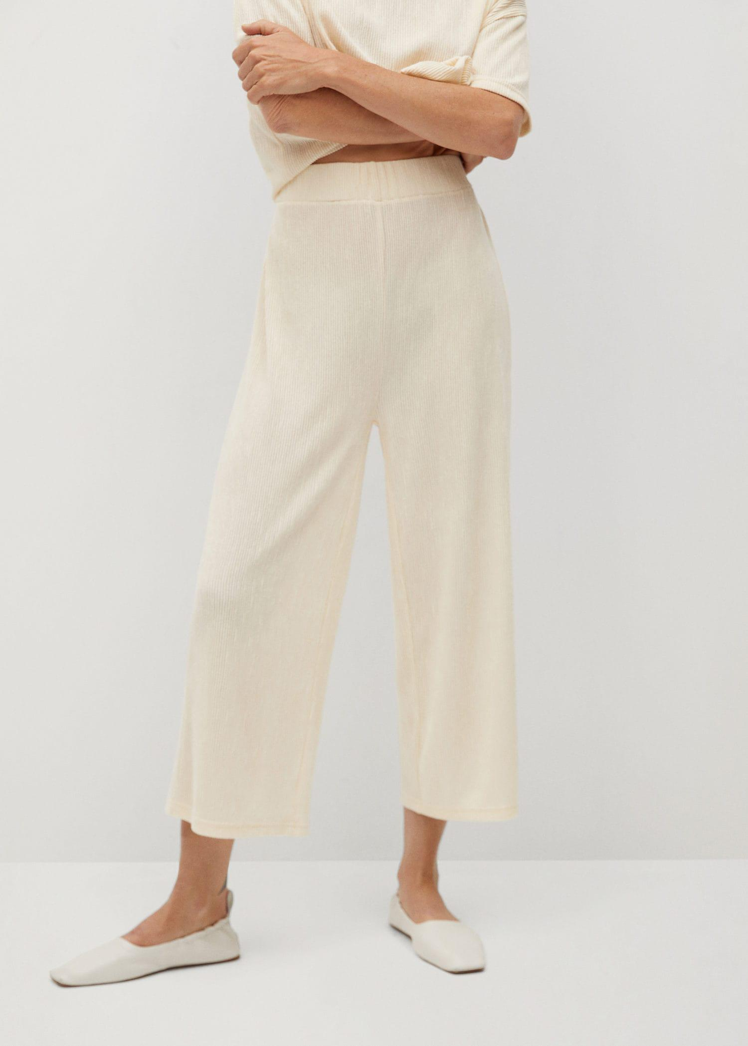 Pleated culotte trousers