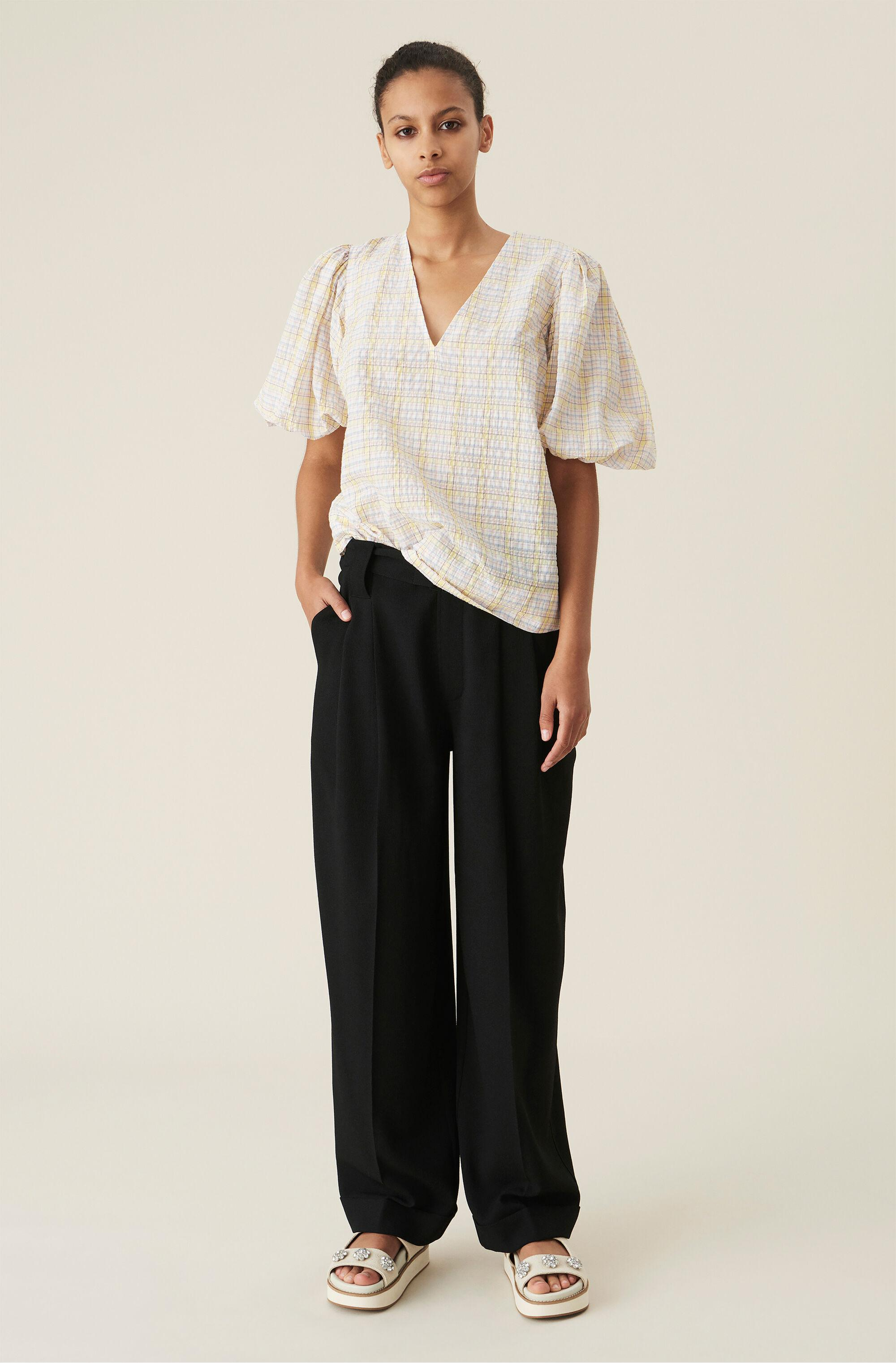 Heavy Crepe High-Rise Straight Trousers
