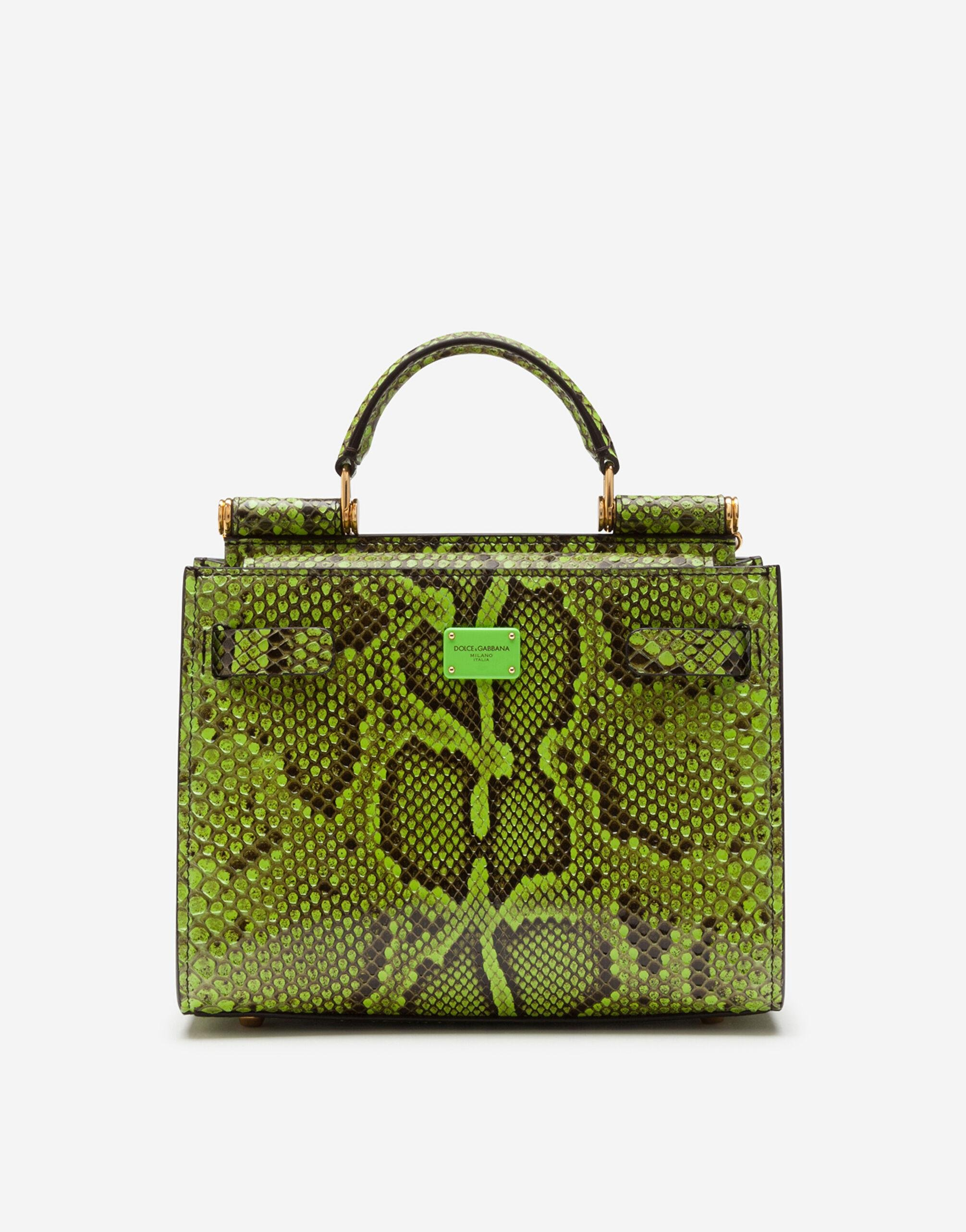Sicily 62 small tote bag in python skin