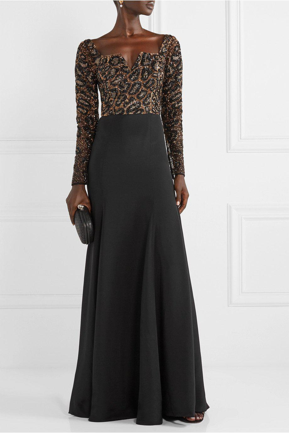 CHEETAH OFF THE SHOULDER GOWN