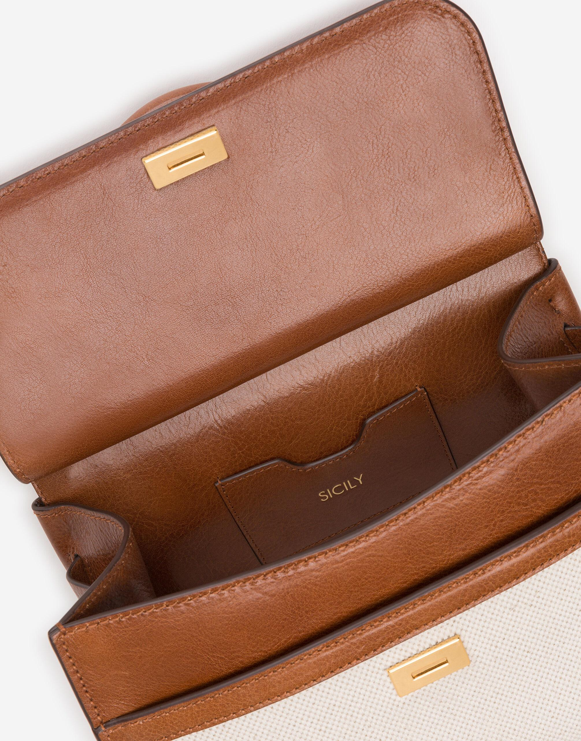 Medium Sicily 58 bag in canvas and cowhide 3