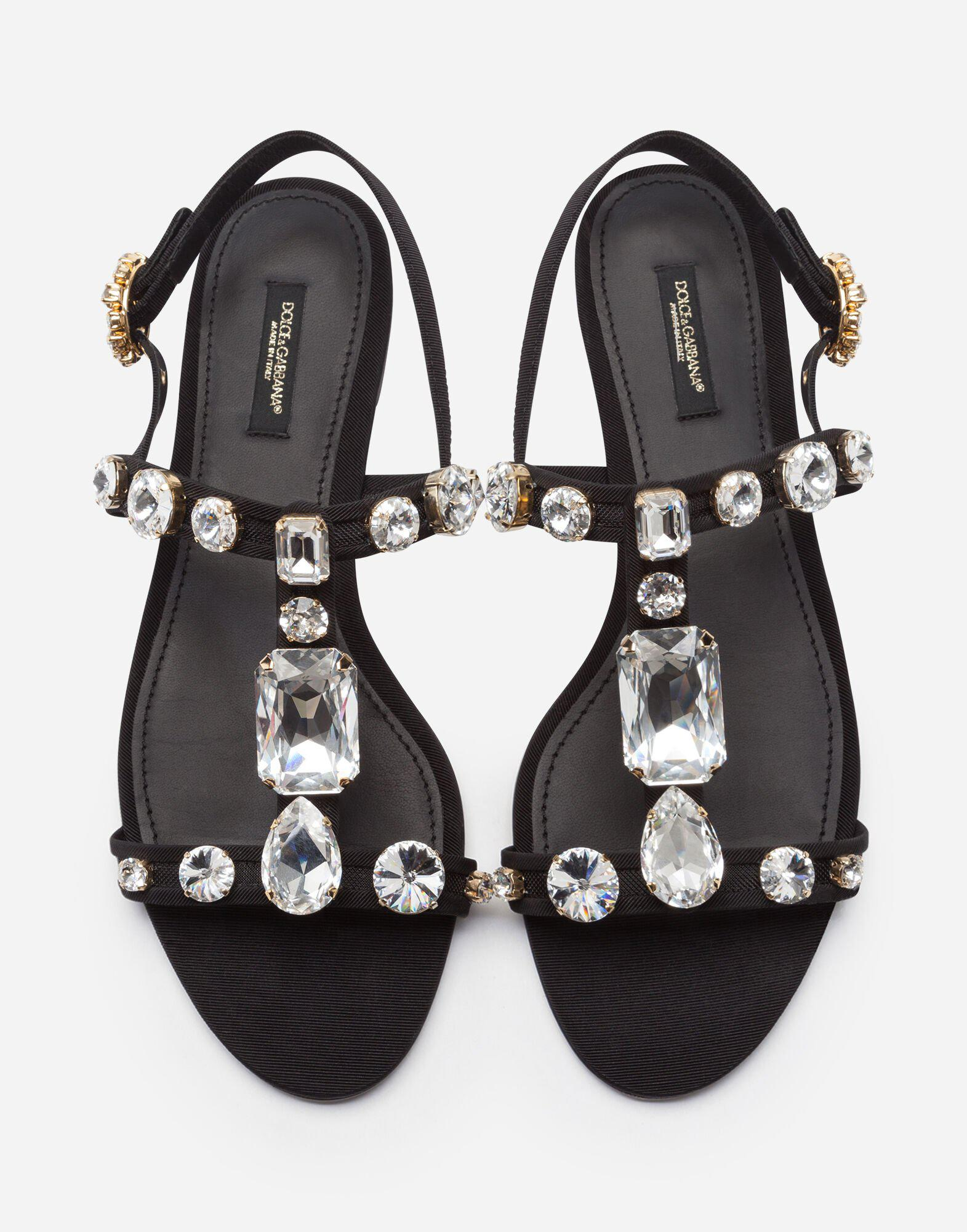 Mesh sandals with crystal embellishment 2