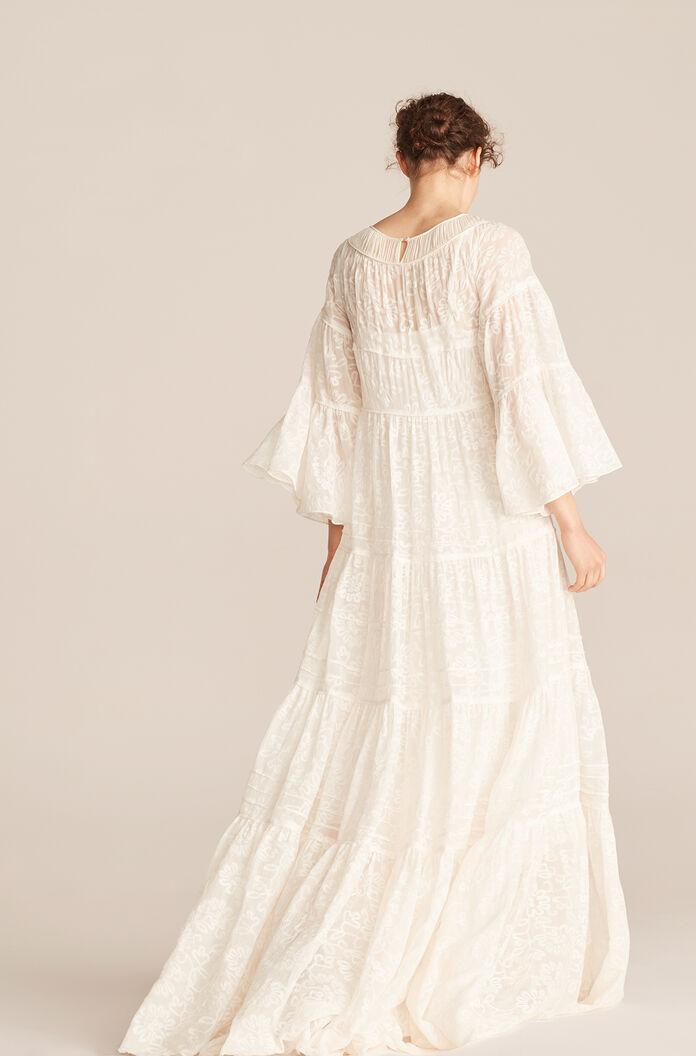 TALLULAH EMBROIDERY RUCHED TIER DRESS 2