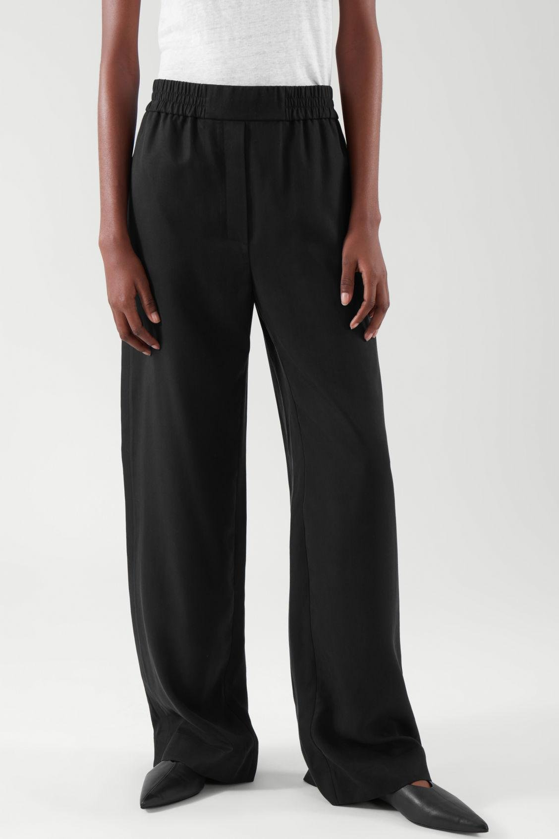 ELASTICATED RELAXED-LEG TROUSERS 2