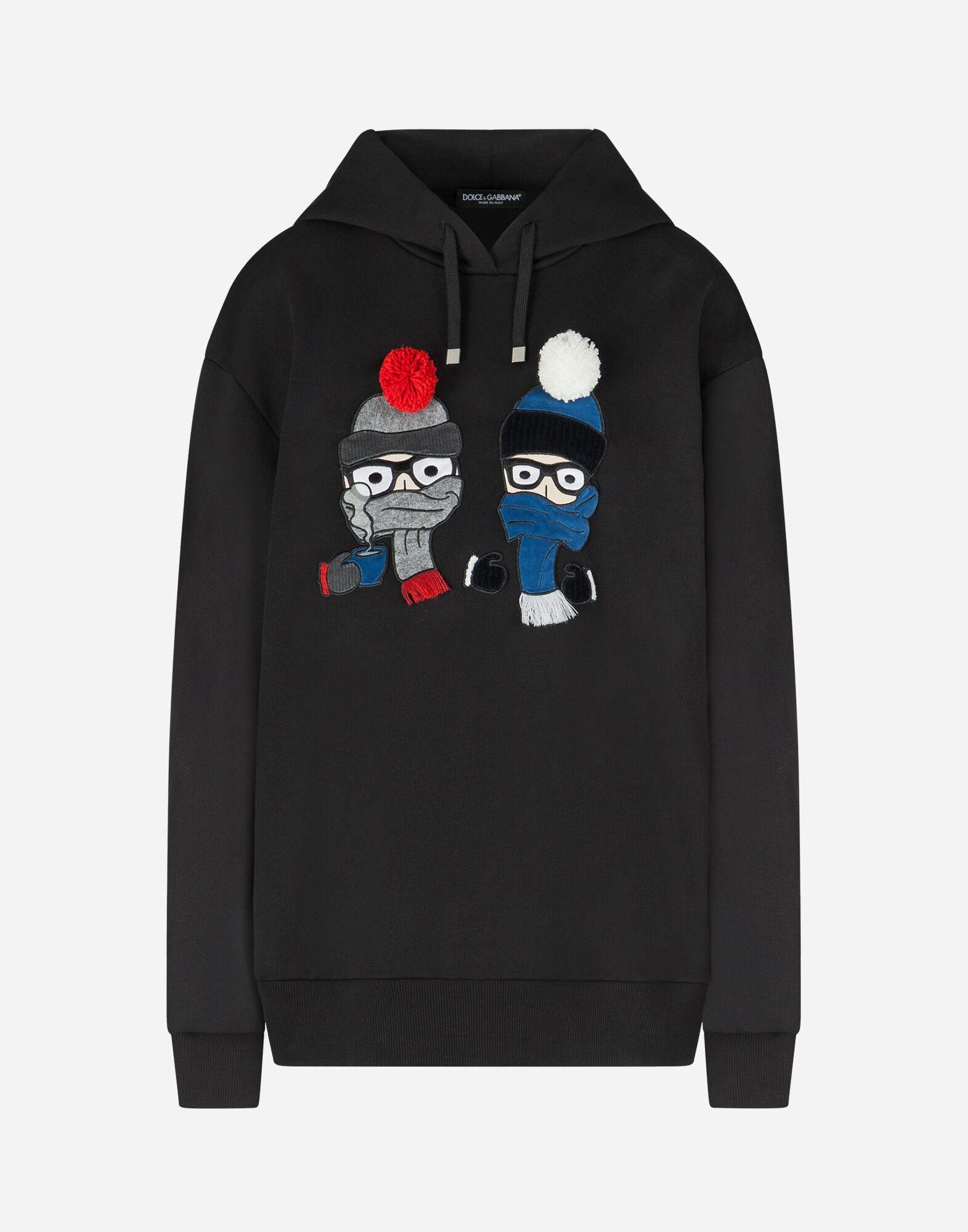 Hoodie with patches of the designers 4