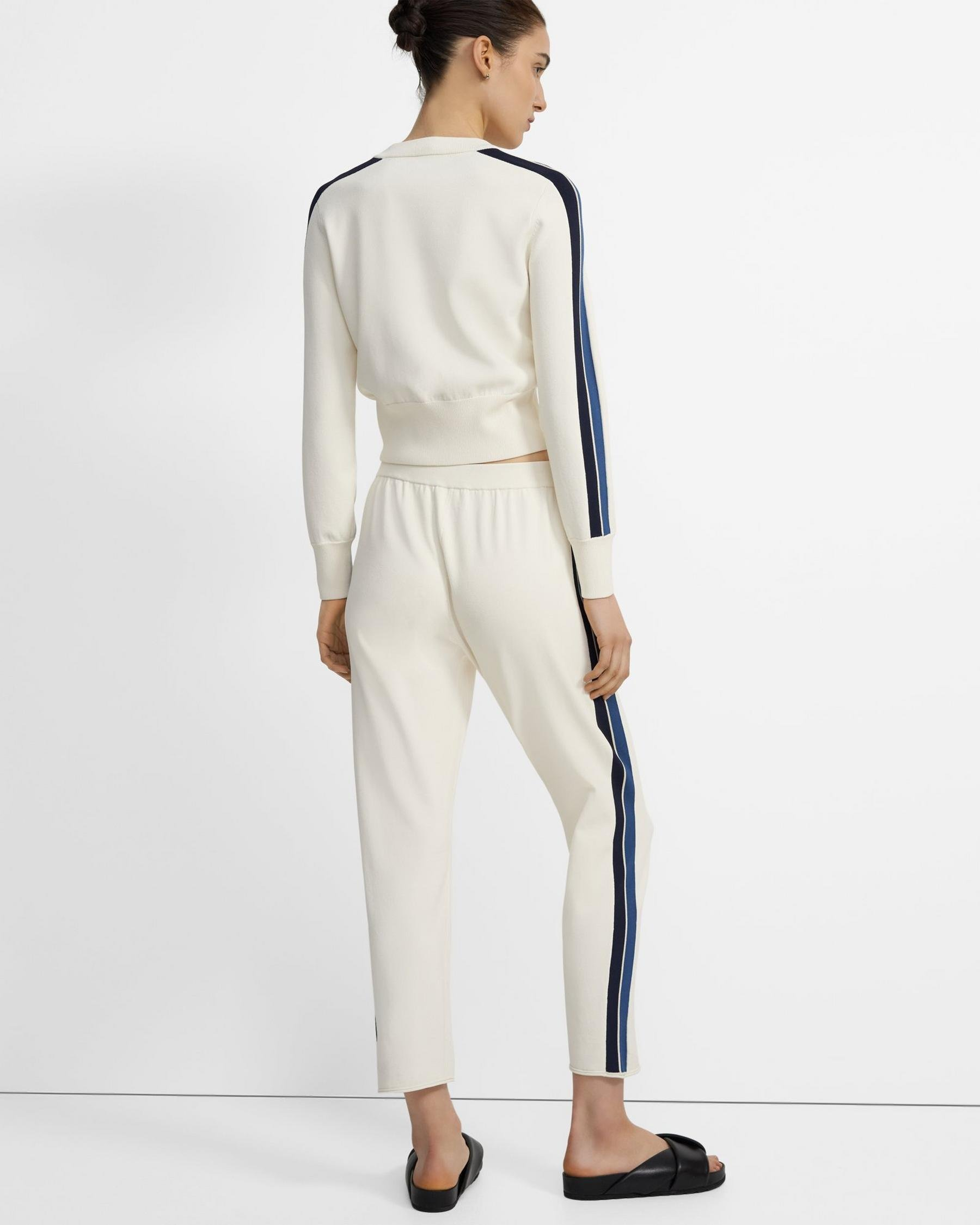 Side Stripe Pull-On Pant in Crepe Knit 2