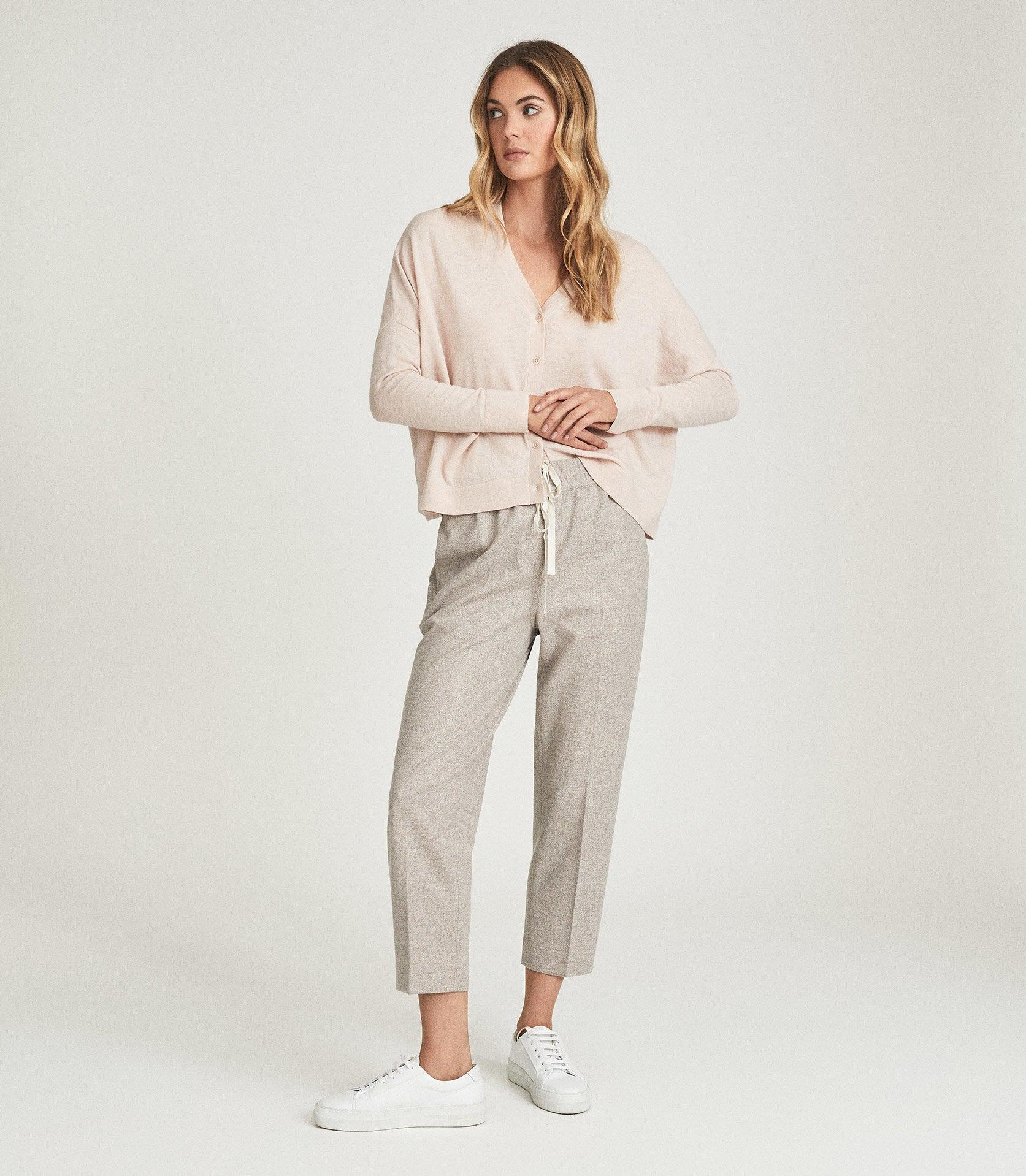 MAISIE - TEXTURED DRAWCORD TROUSERS