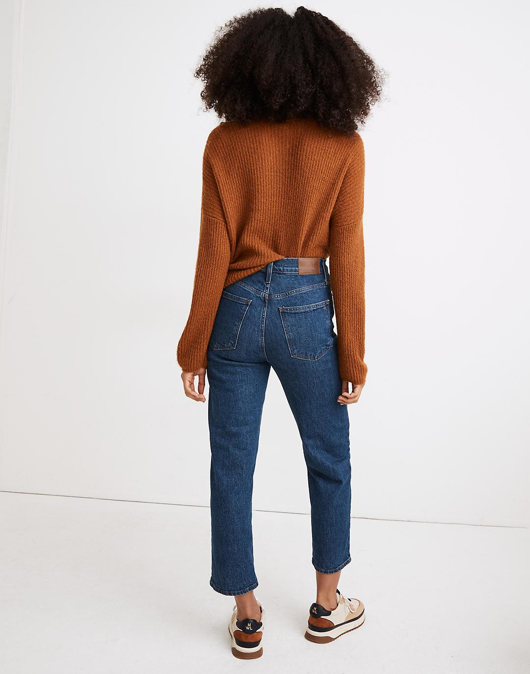 The Petite Perfect Vintage Straight Crop Jean in Edendale Wash