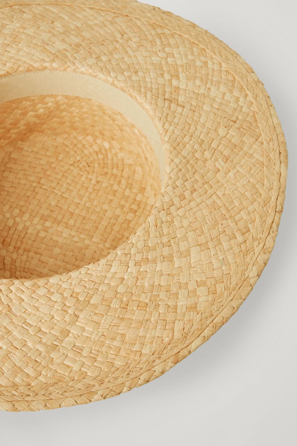 OVERSIZED STRAW BOATER HAT 2