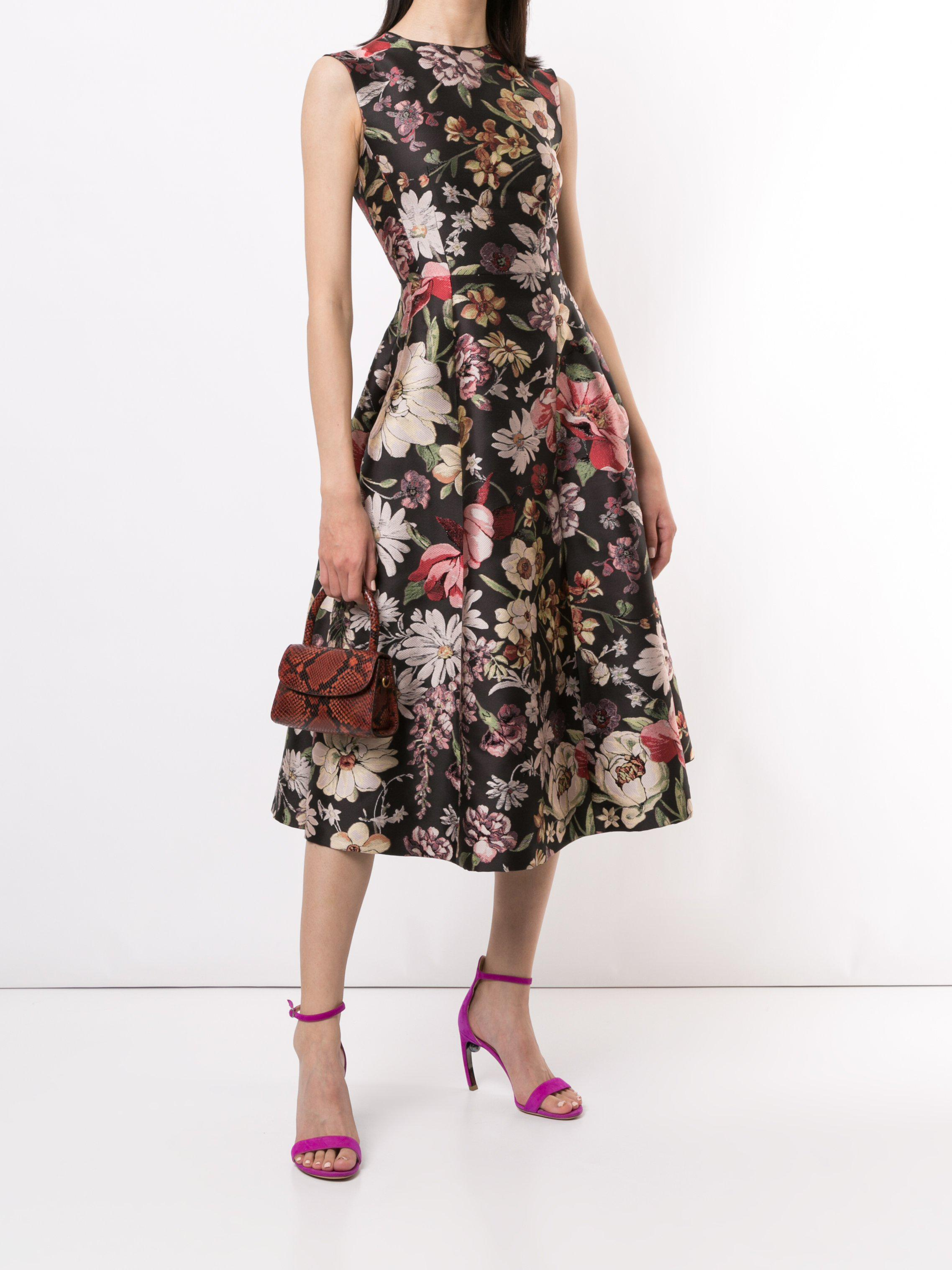 FIT AND FLARE DRESS IN JACQUARD 0