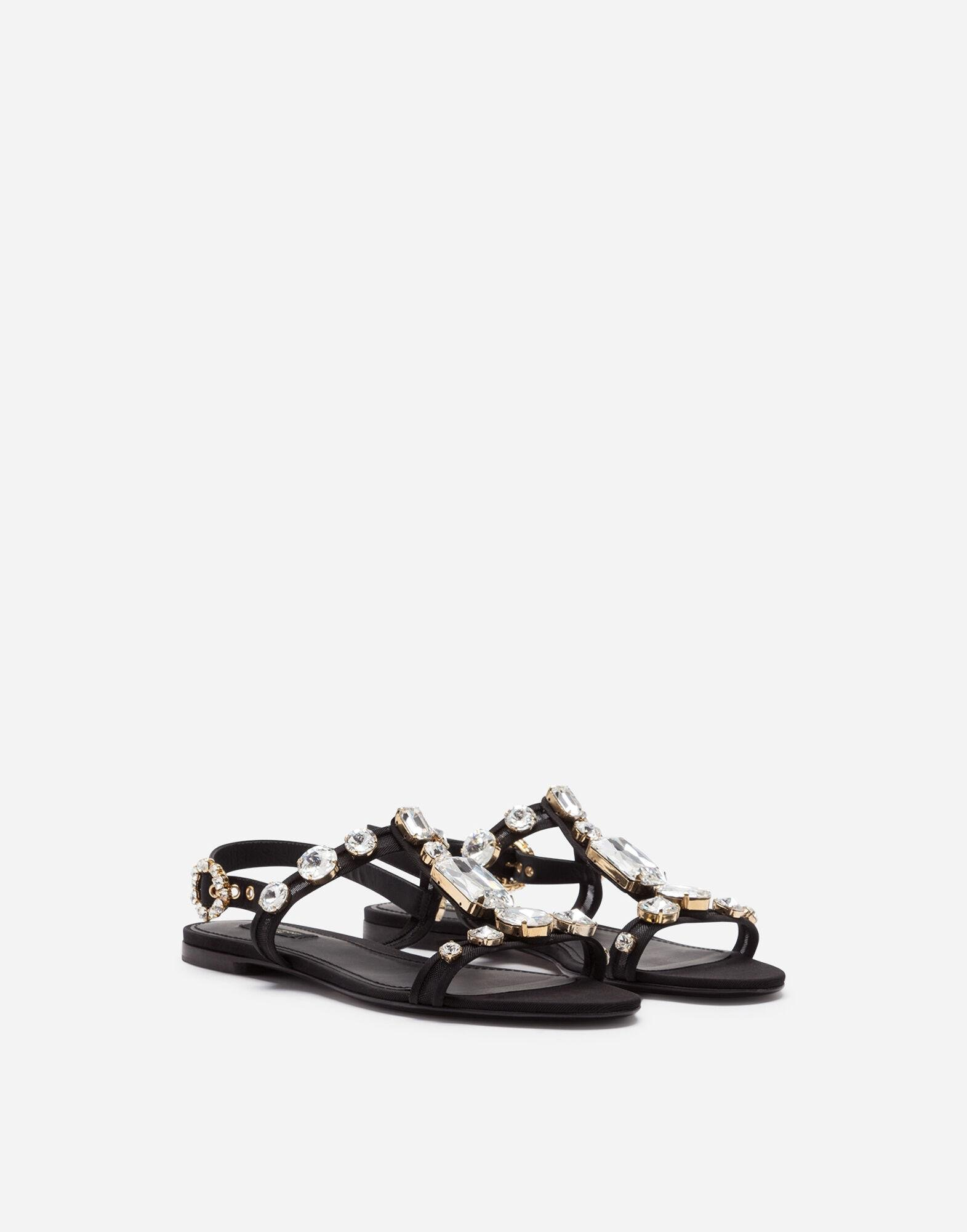 Mesh sandals with crystal embellishment 1
