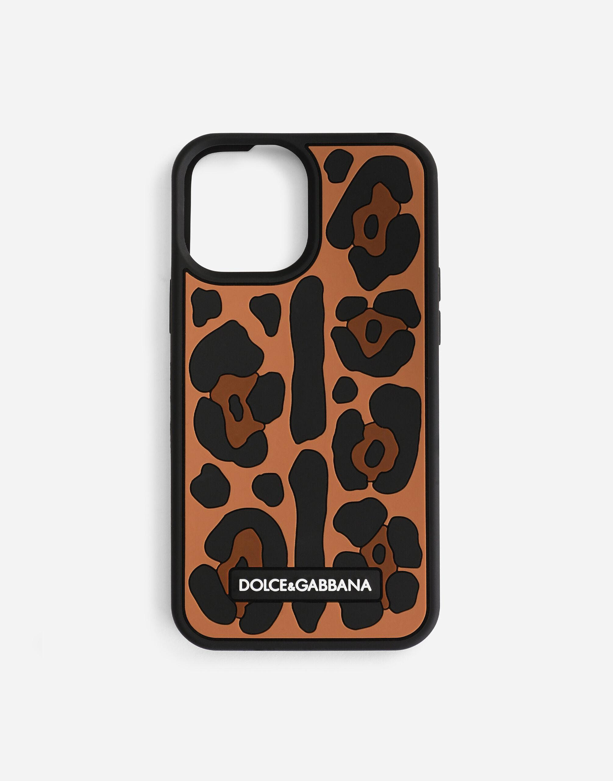 Leopard-print rubber iPhone 12 Pro Max cover
