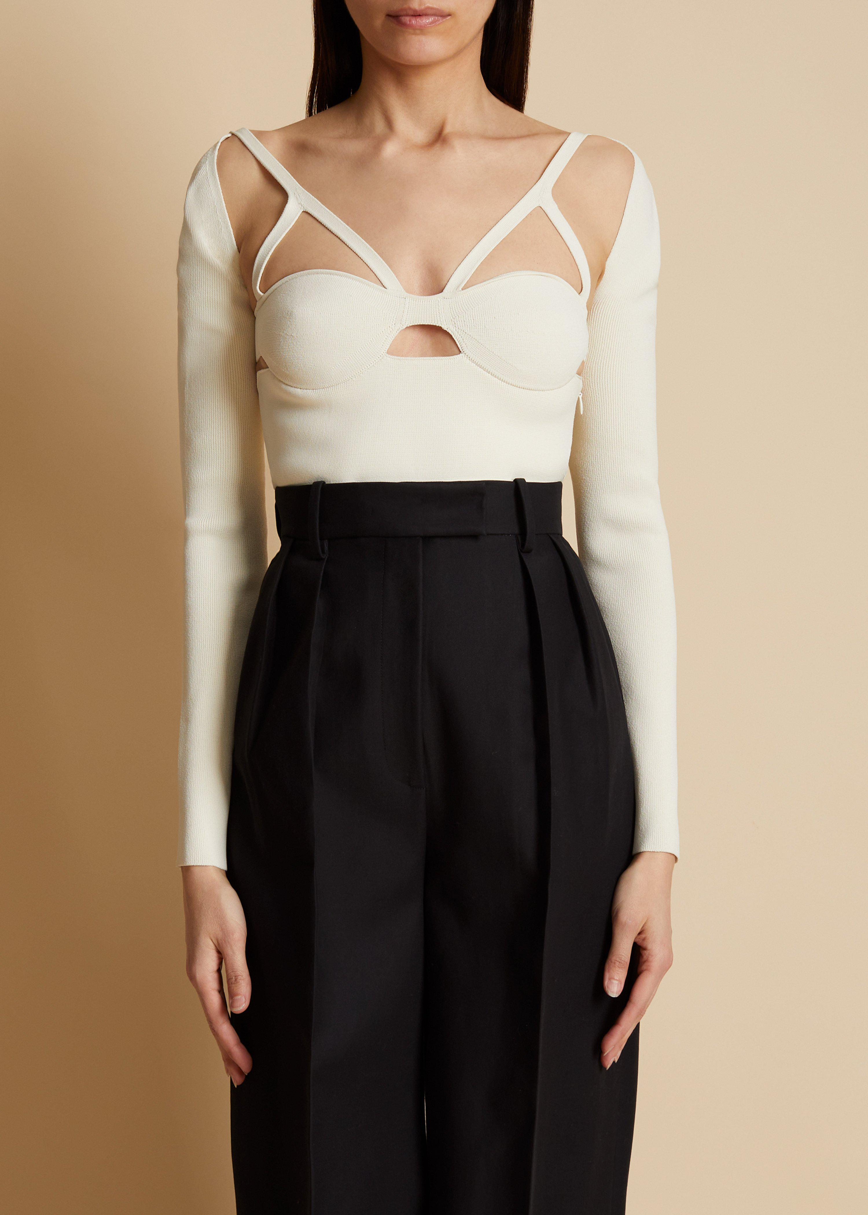 The Roza Top in Ivory