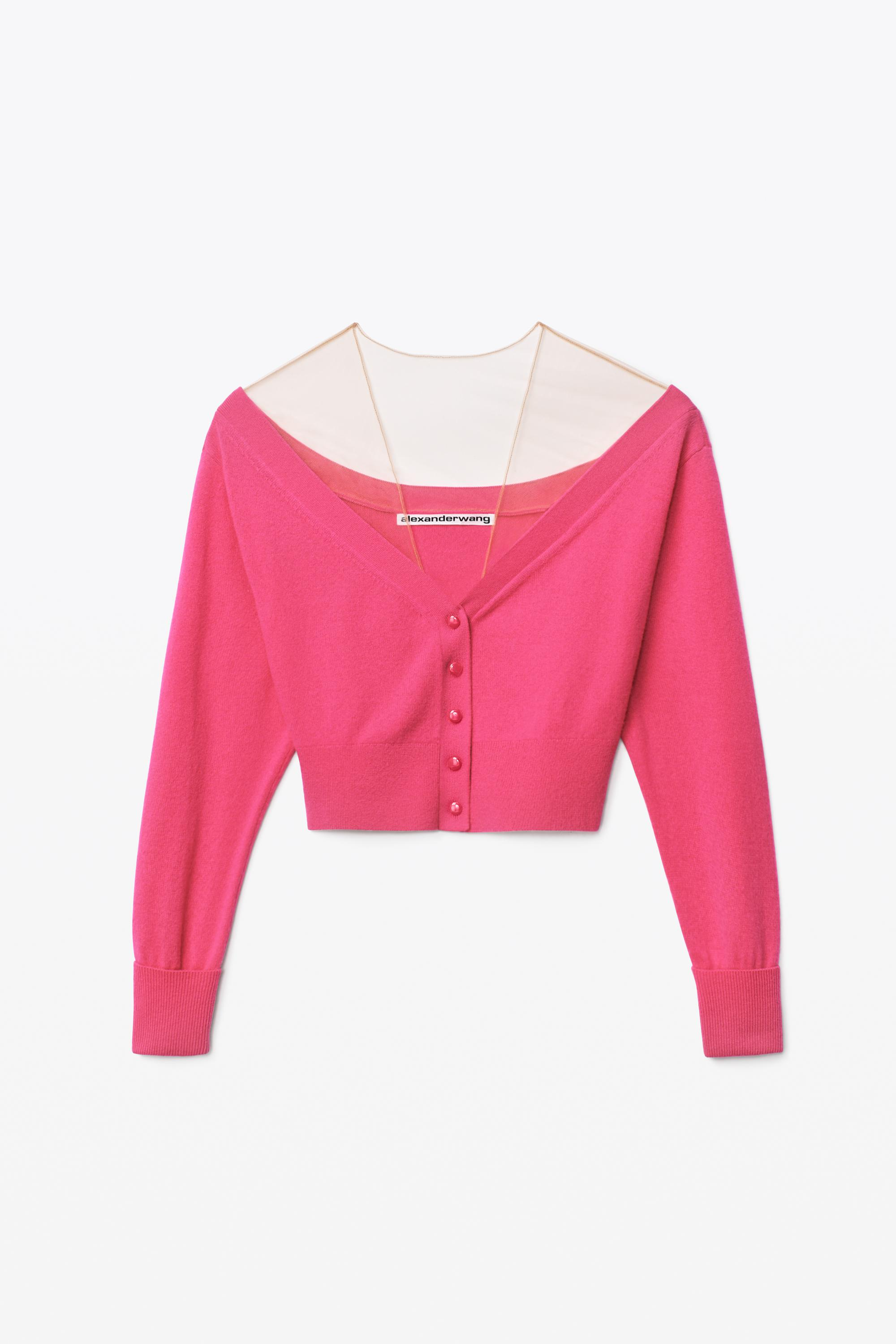 fitted cropped cardigan 1