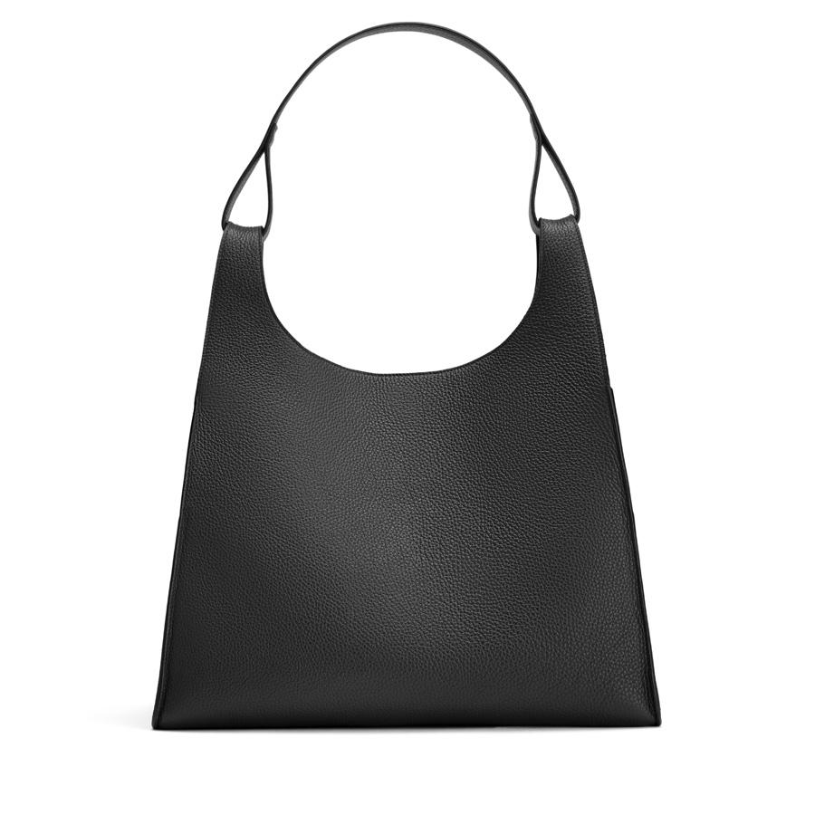 Women's Oversized Double Loop Bag in Black | Pebbled Leather by Cuyana
