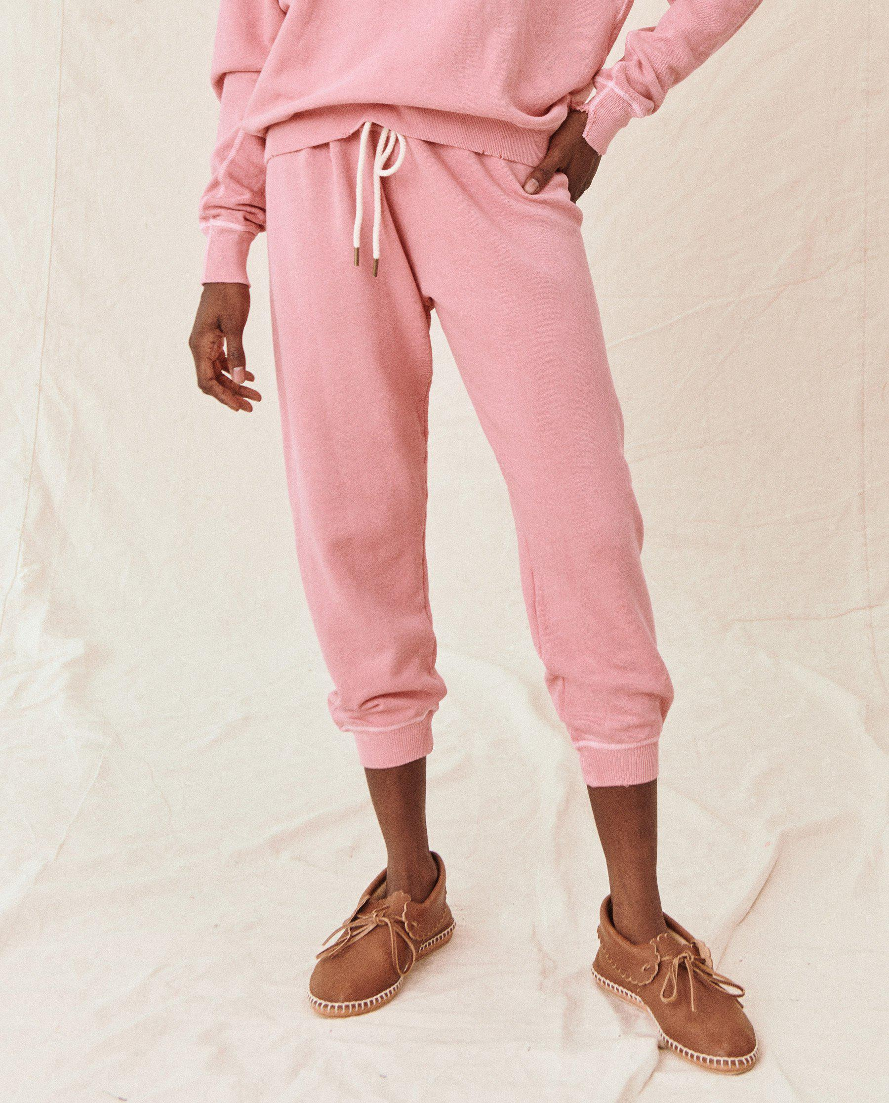 The Cropped Sweatpant. Solid -- Sugared Berry