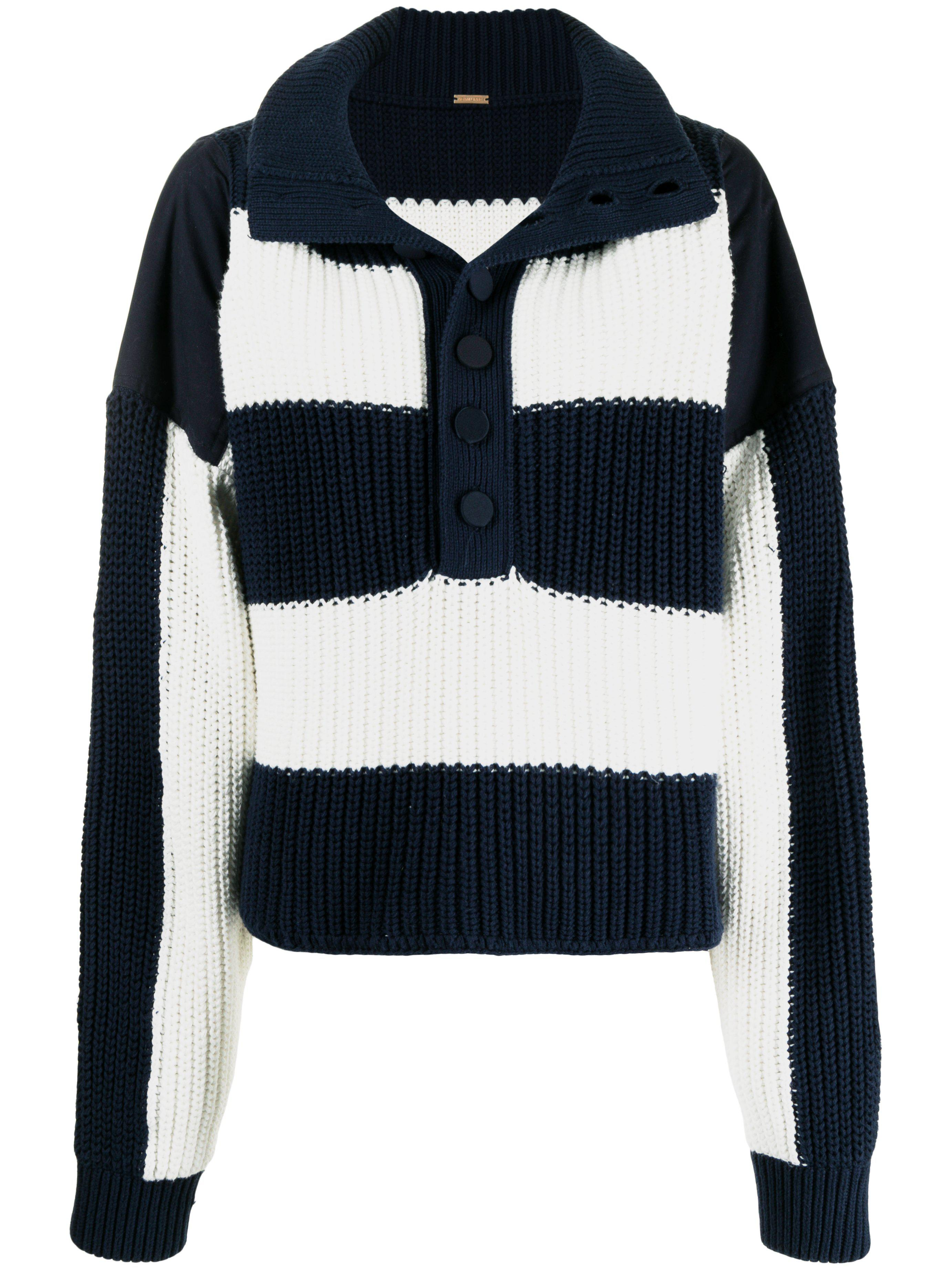 STRIPED HENLEY SWEATER IN COTTON 1