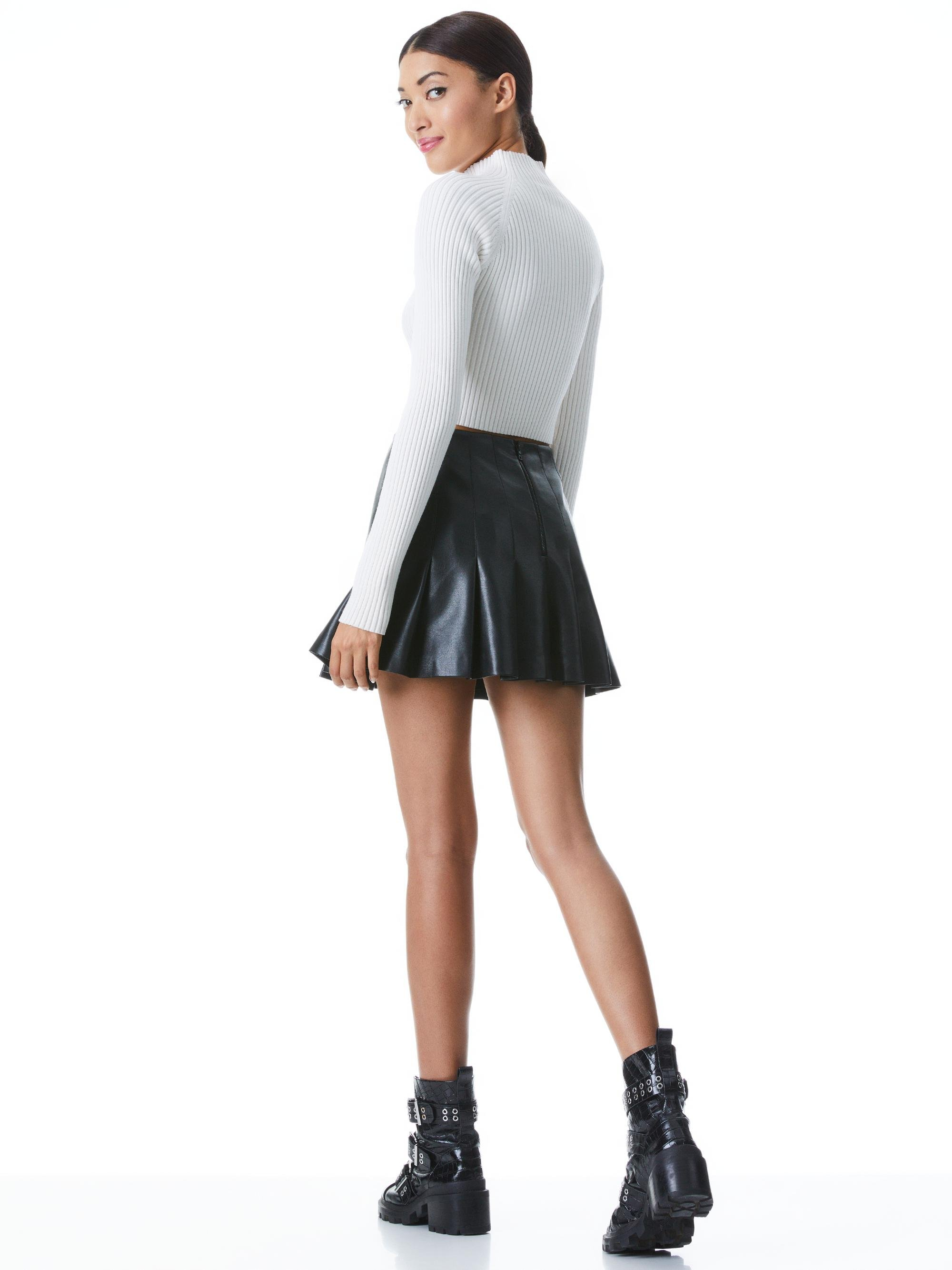 IRENA MOCK NECK CROPPED PULLOVER 1