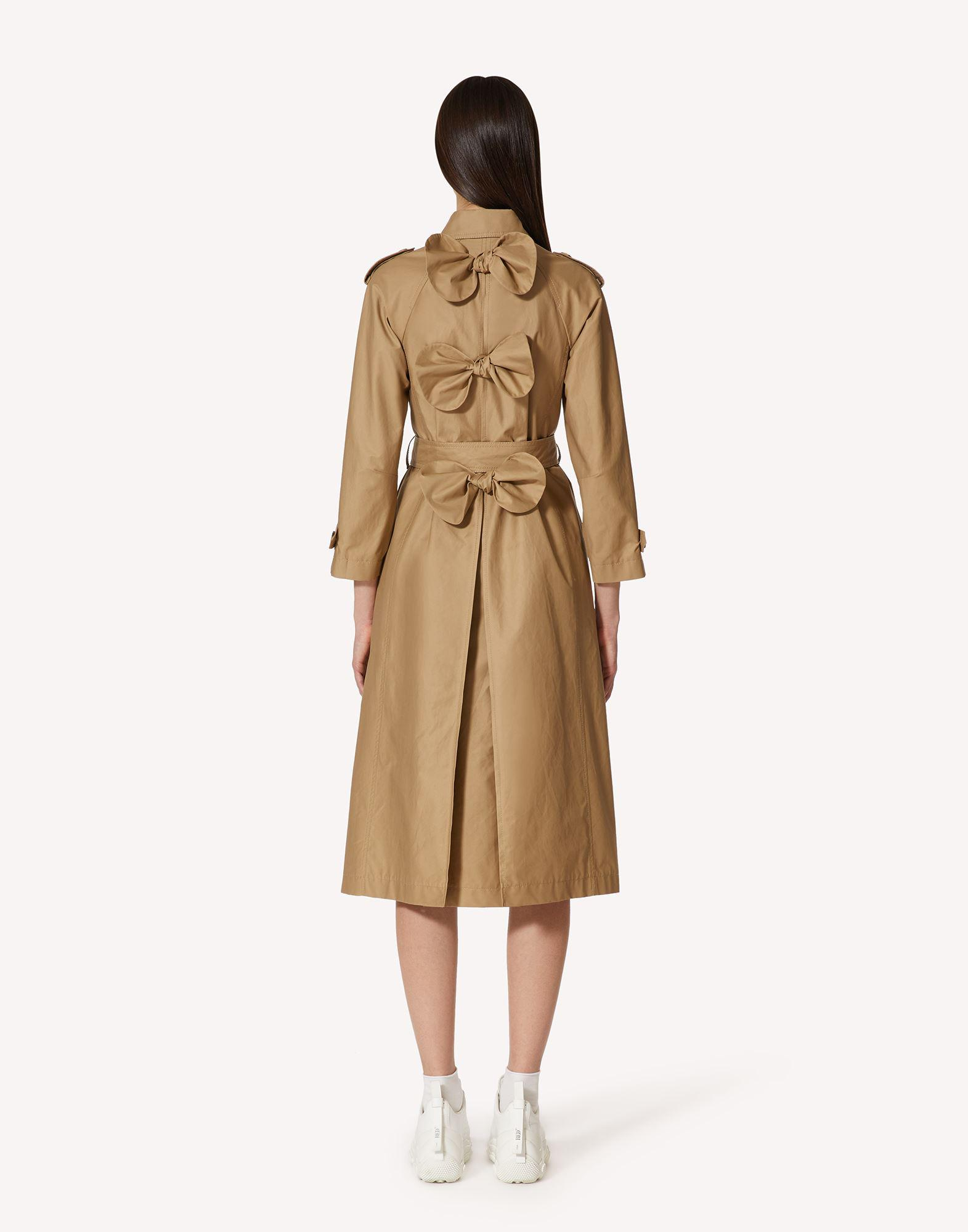 GABARDINE TRENCH COAT WITH BOW DETAILS 1