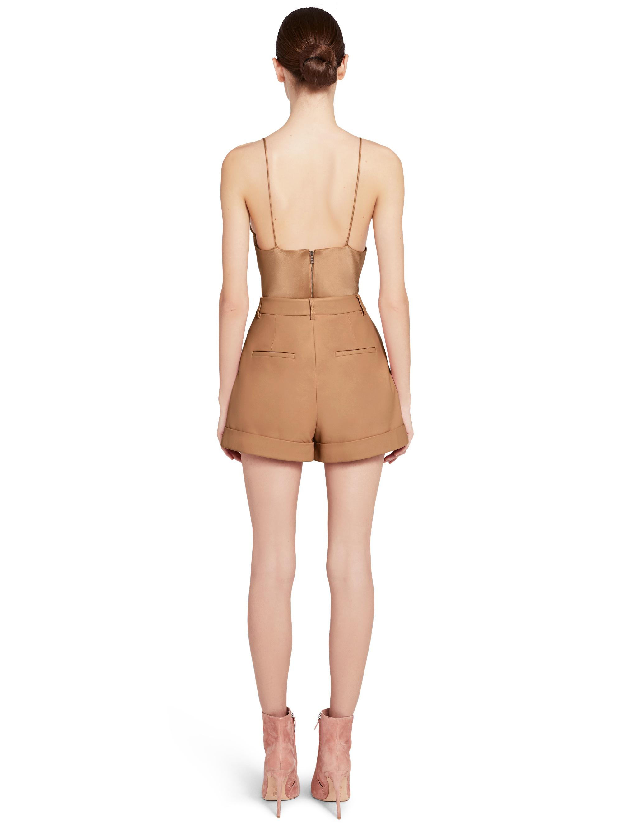 CONRY LEATHER PLEATED SHORTS 1